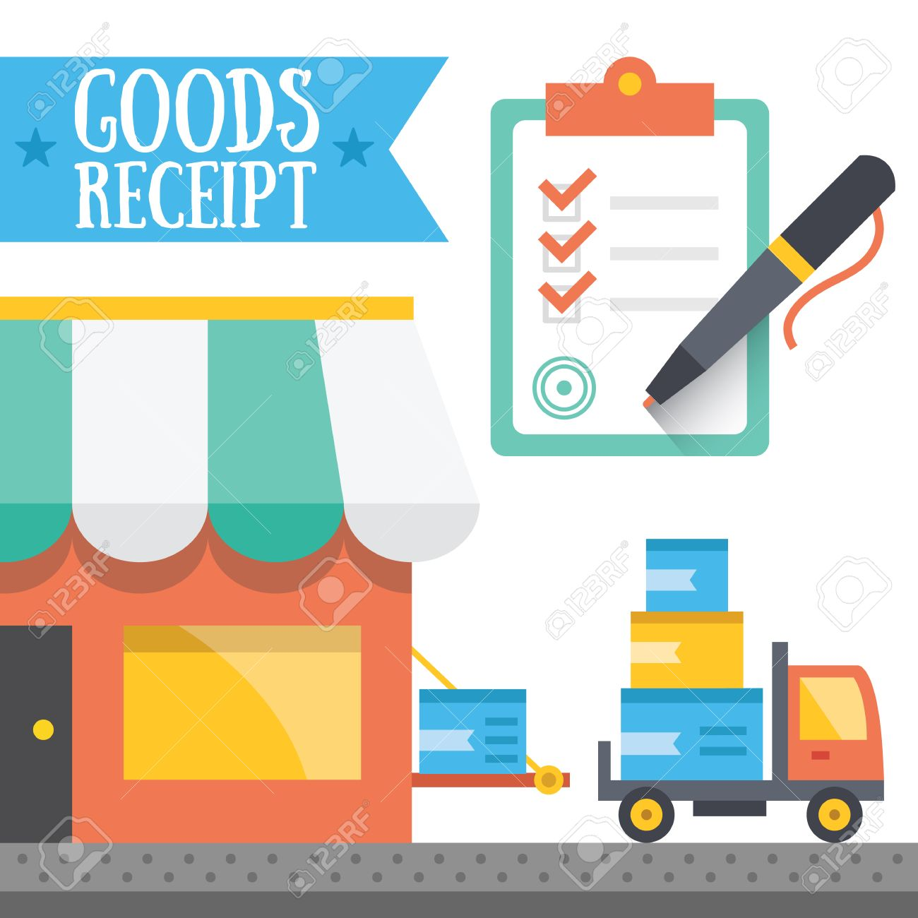 Goods receipt concept  Vector illustration