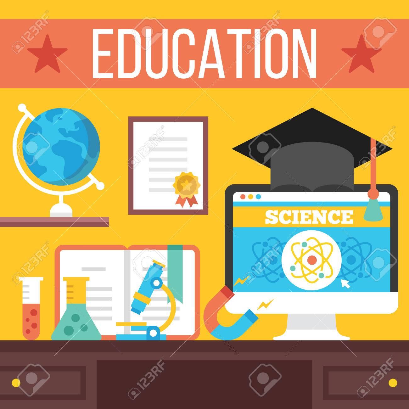 Education online learning online tutorials distance education education online learning online tutorials distance education concept stock vector 40382910 baditri Gallery