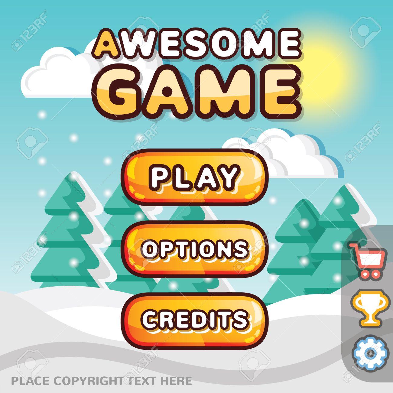 Main menu game interface kit  Creative ui templates for web mobile