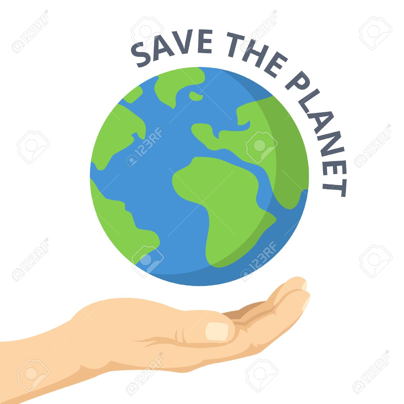 save the planet hand palm and earth vector flat illustration rh 123rf com earth vector free earth vector images free
