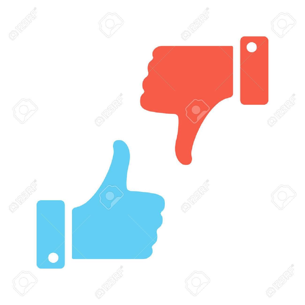 Blue like red dislike. Vector icons - 50915936