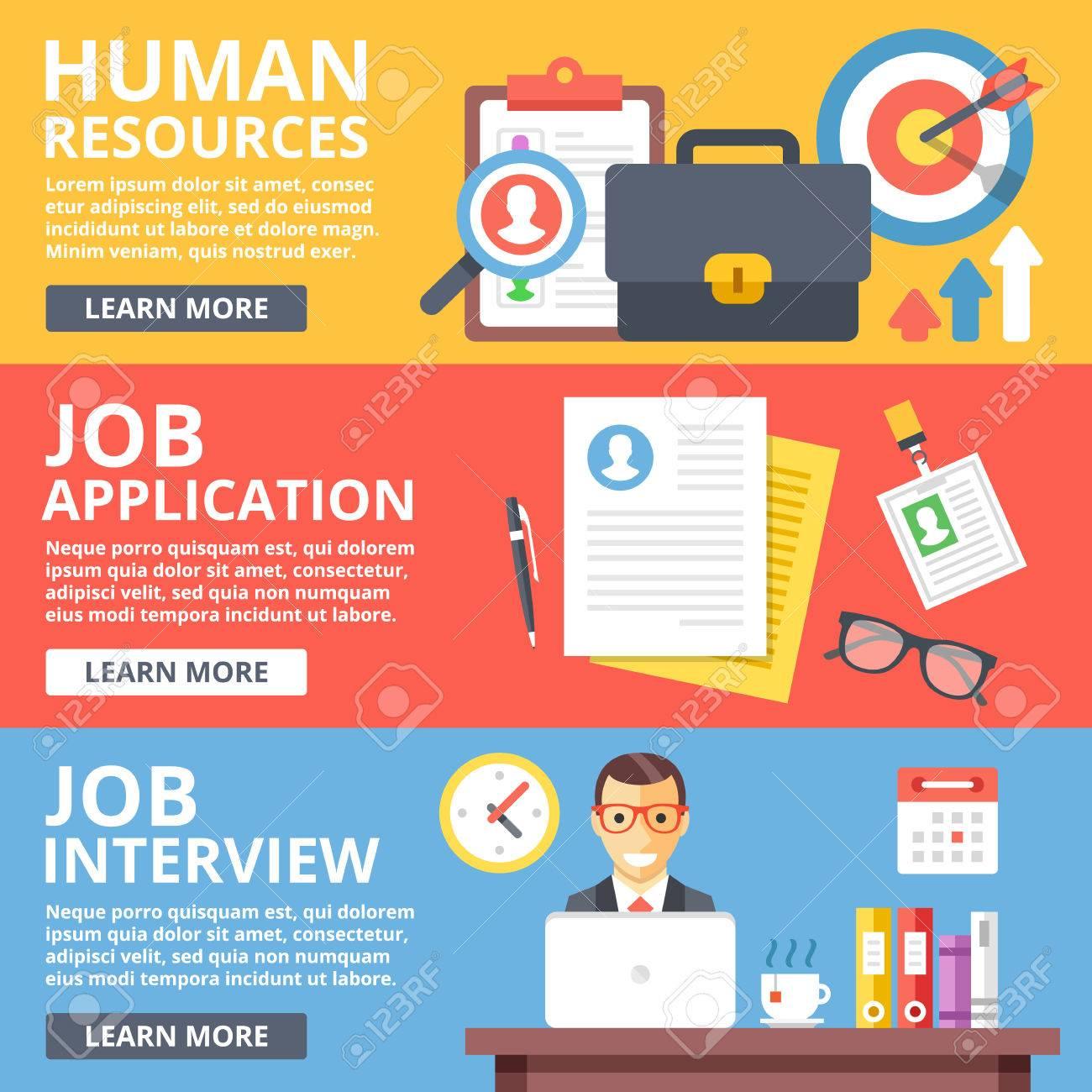 human resources bewerbung vorstellungsgesprch flach abbildung satz standard bild 55398729 - Bewerbung Vorstellungsgesprach