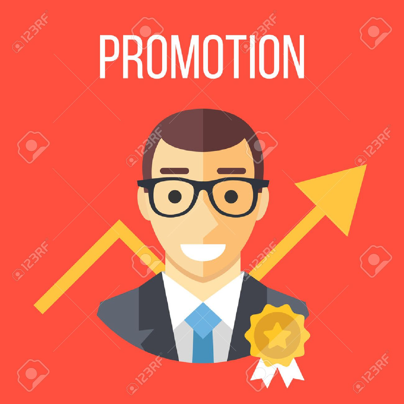 job promotion flat illustration career ladder advance in office job promotion flat illustration career ladder advance in office job development promotion