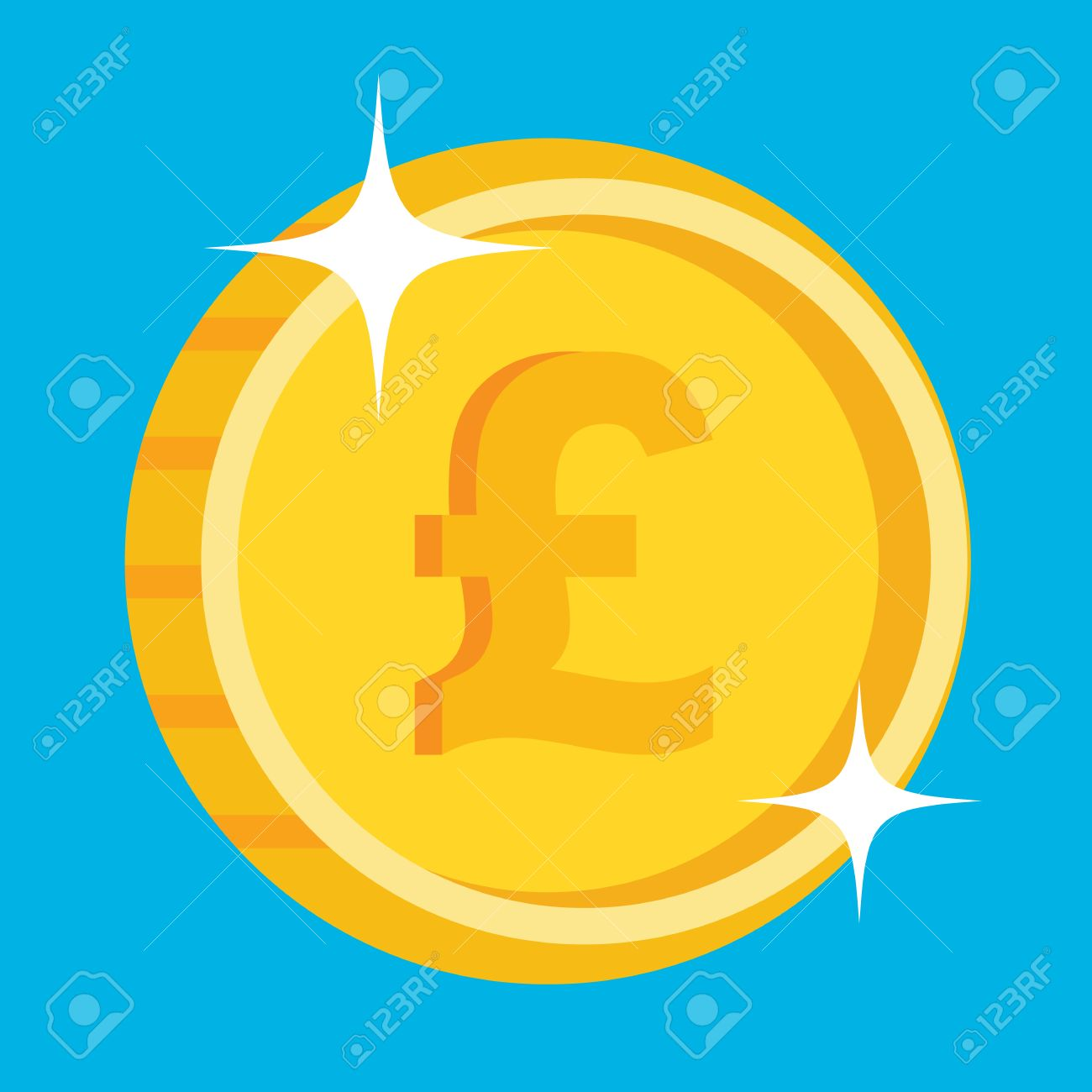 Vector gold coin icon with british pound symbol one penny coin vector vector gold coin icon with british pound symbol one penny coin british pound icon publicscrutiny Images