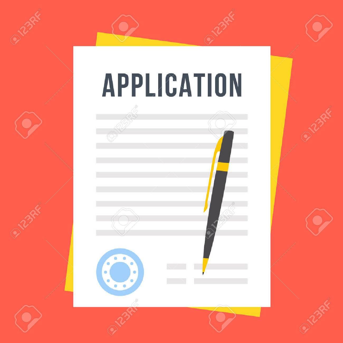 Vector application form - 61213444