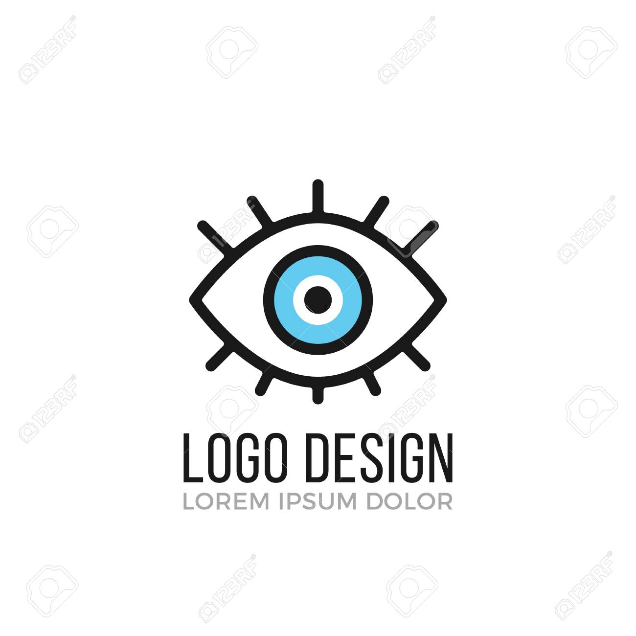 eye logo design concept eye icon vector logo royalty free cliparts
