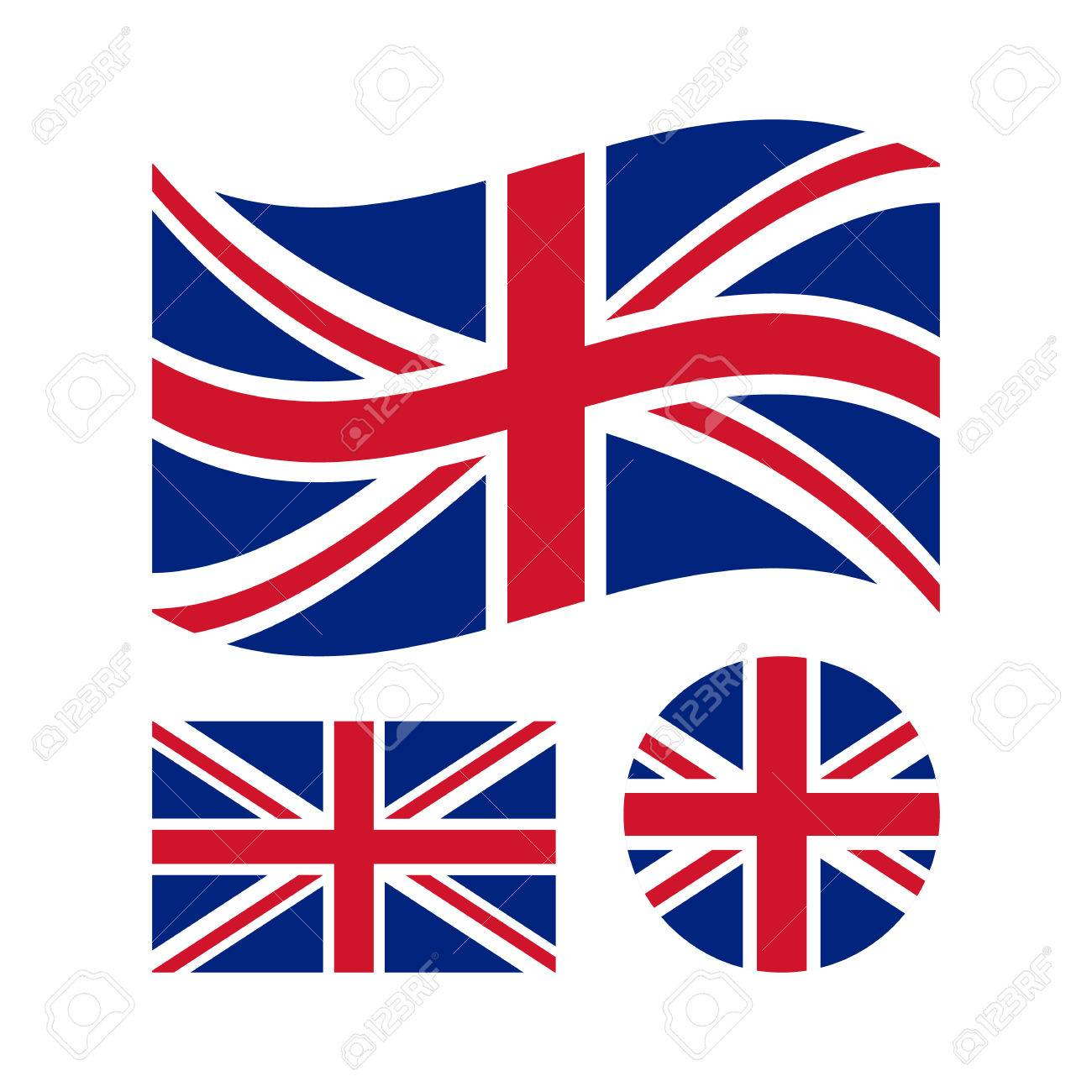 great britain flag set rectangular waving and circle union rh 123rf com union jack vector logo union jack vector download