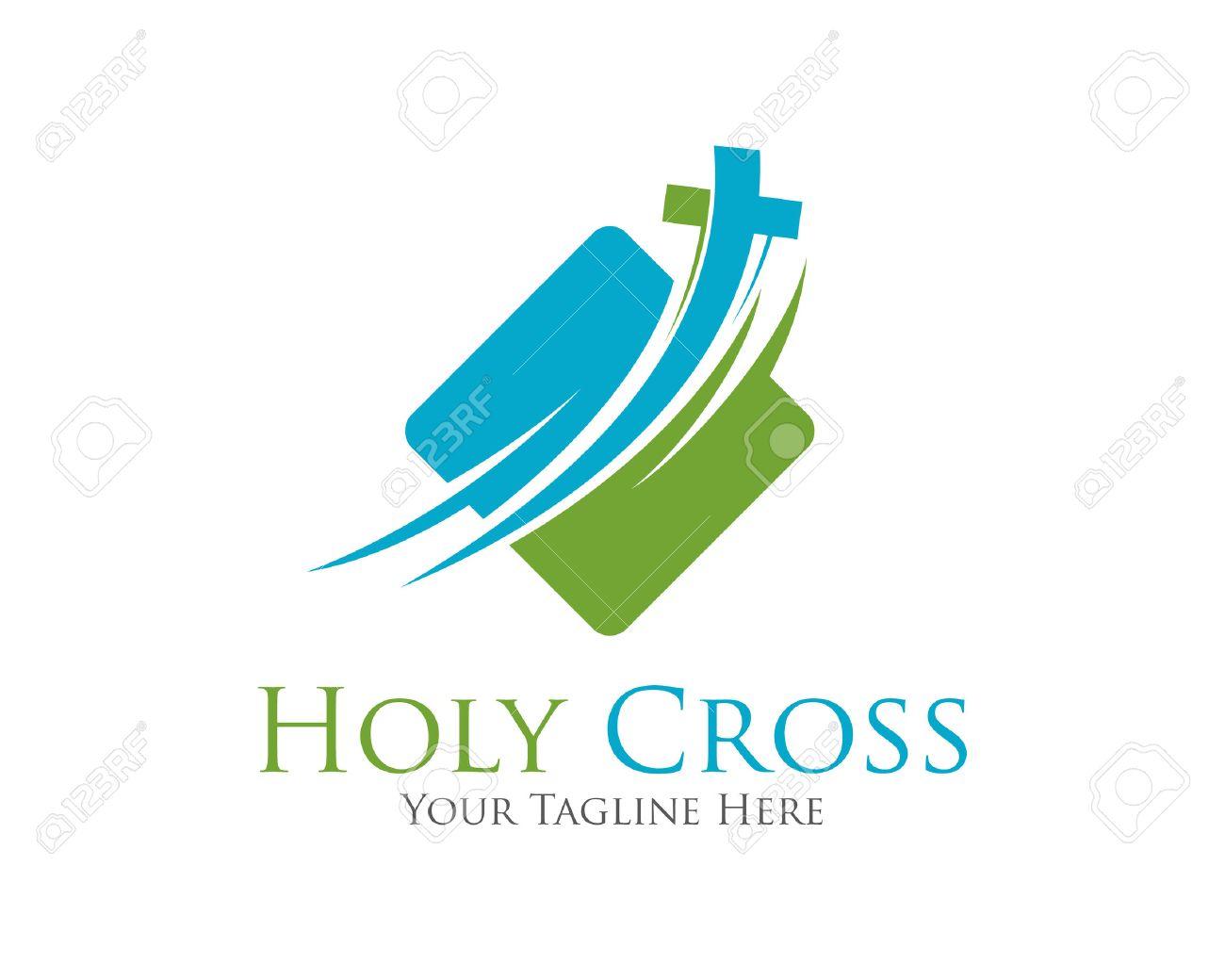 Diseño de la plantilla vector logo Cruz. Logotipo de la plantilla para las  iglesias y 5da810b84d6be