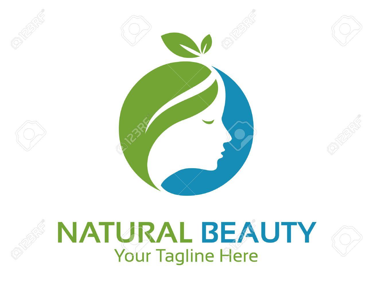 Natural Beauty Logo Design Vector Spa And Treatment Logo Design