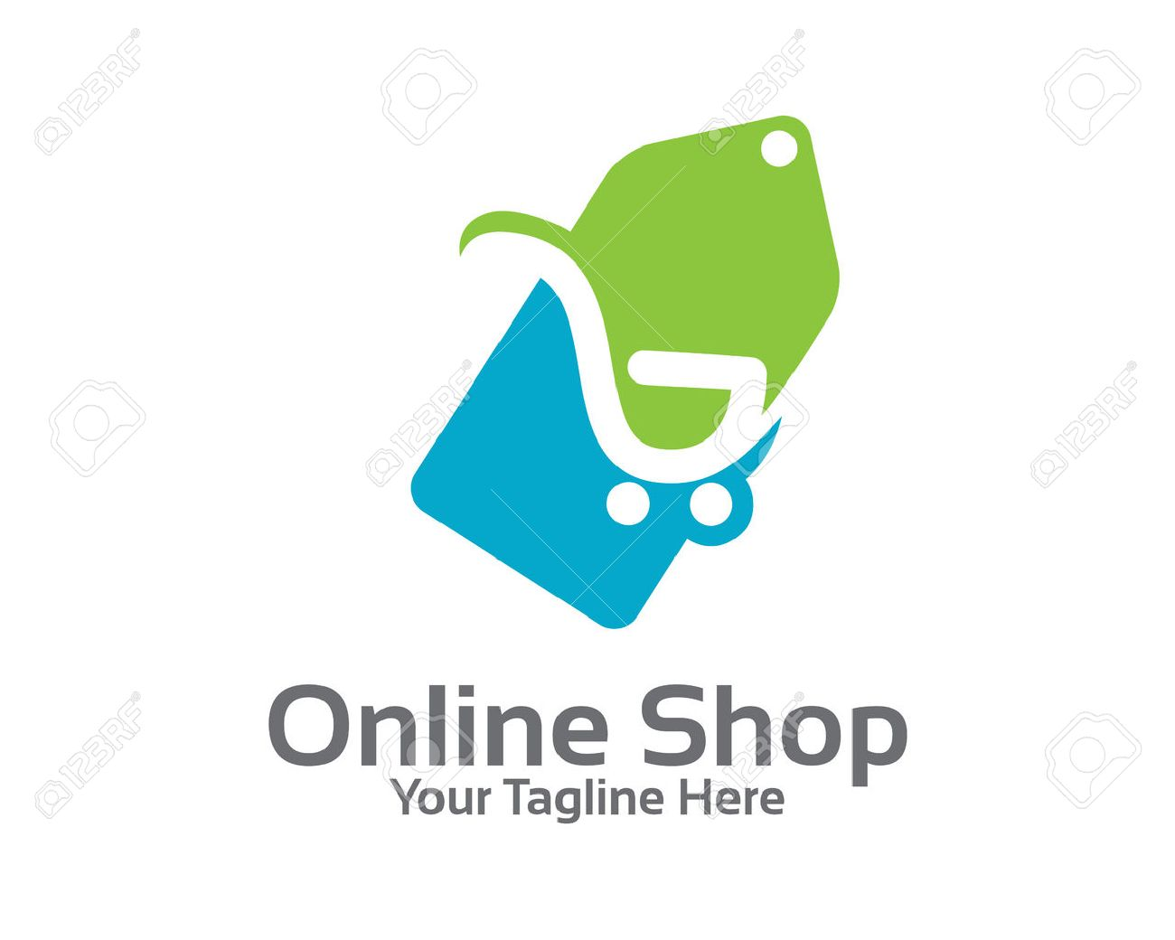 design logo for online online store logo design vector shopping cart and price tag logo design concept price design