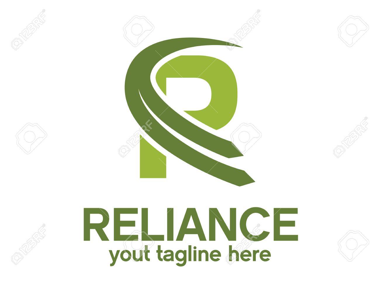 R Symbol Logo Letter R symbol vector in two