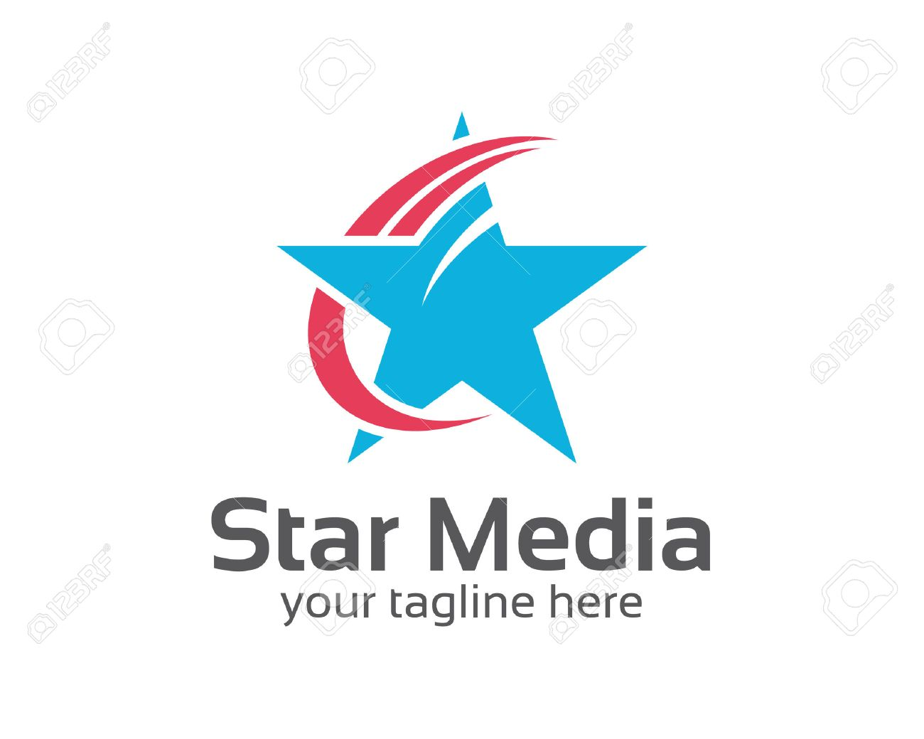 Abstract Star Logo Template Star Vector Logo Design Branding - Free modern logo templates