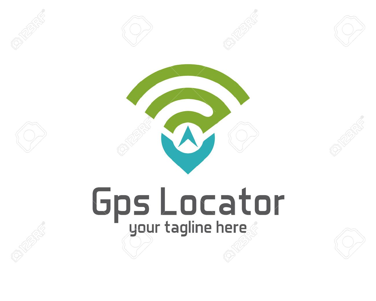 Localizador GPS Plantilla De Diseño Vectorial. Pin Mapas De Símbolos ...
