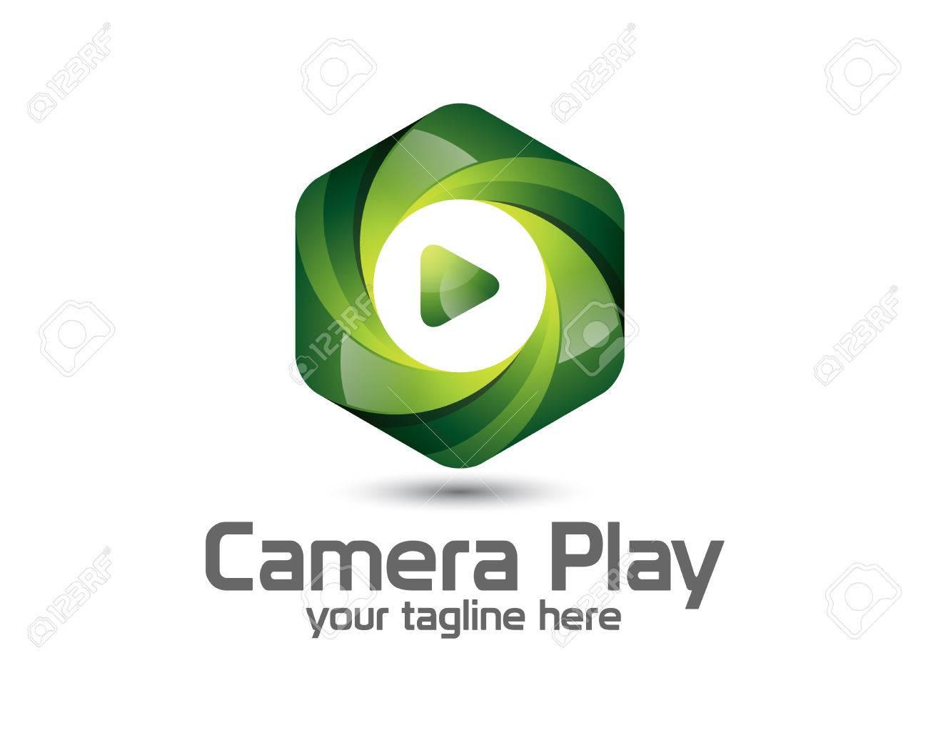 3D Camera Photography Logo Design. Colorful 3D Photo Logo Vector ...