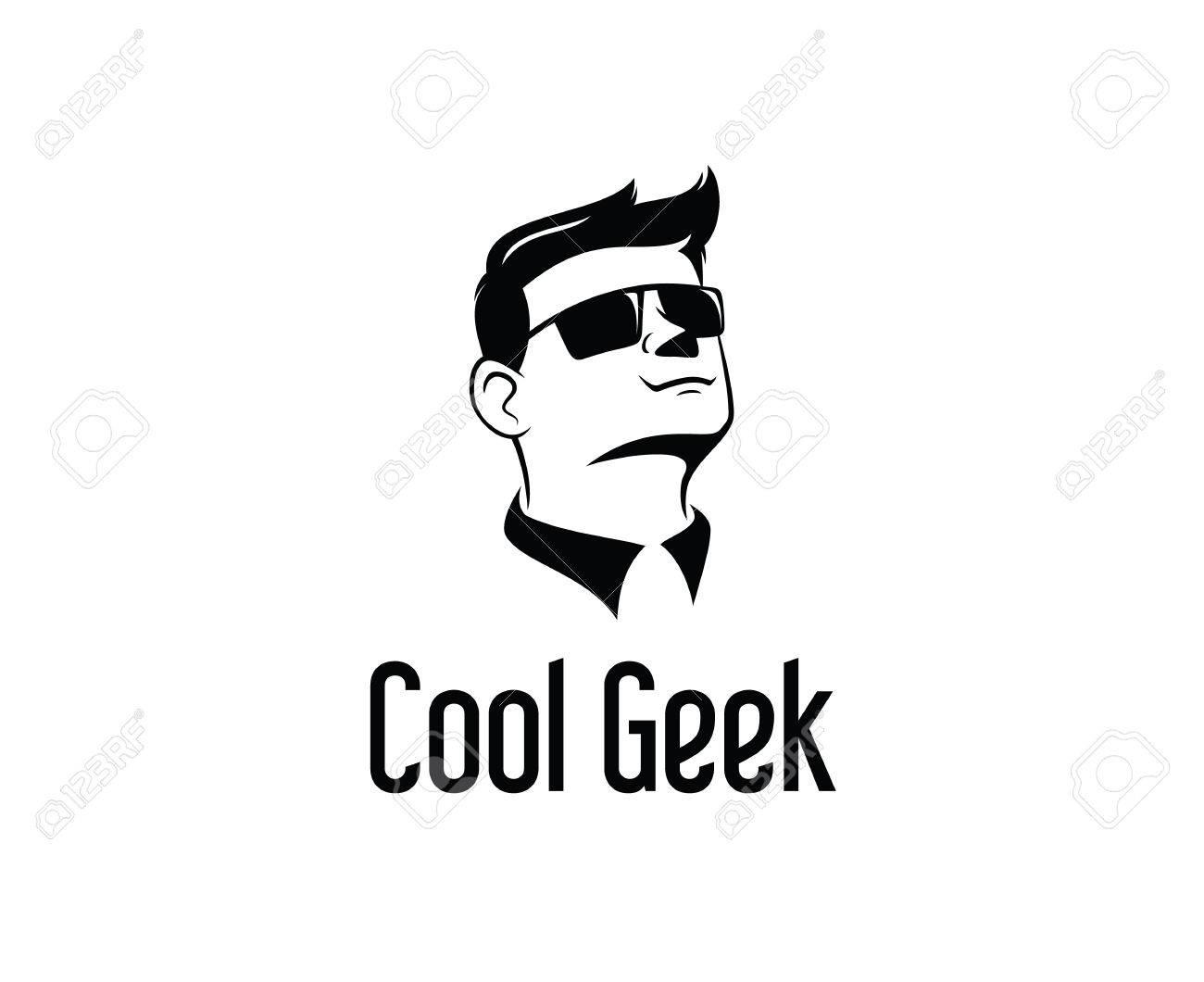 Geek Logo Design Vector Hipster Logo Template Royalty Free