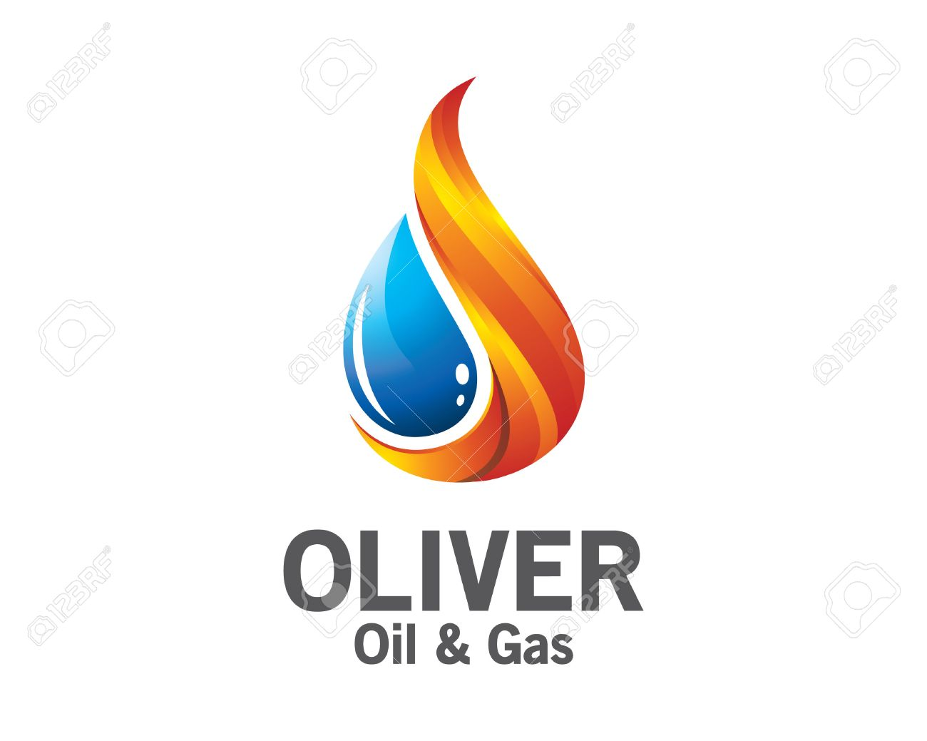 3D Oil And Gas Logo Design. Colorful 3D Oil And Gas Logo Vector ...