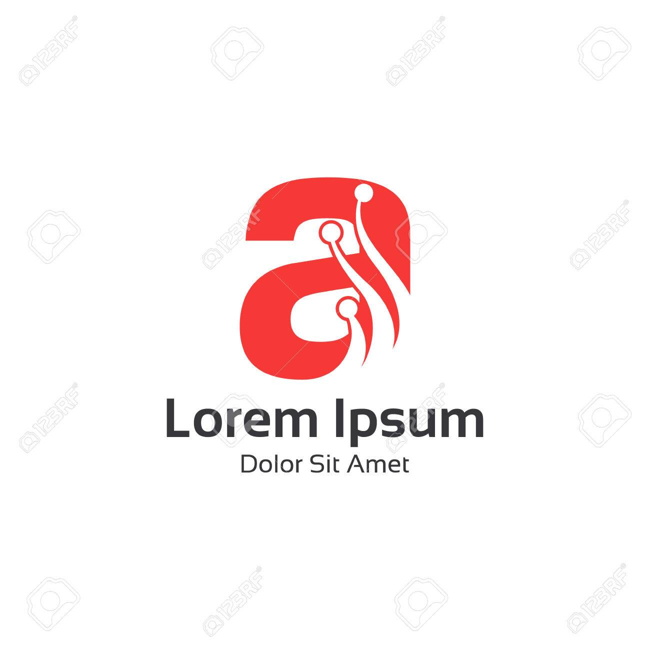 Abstrakte Buchstaben A Logo-Design Vektor. Letter A Einfache Flache ...