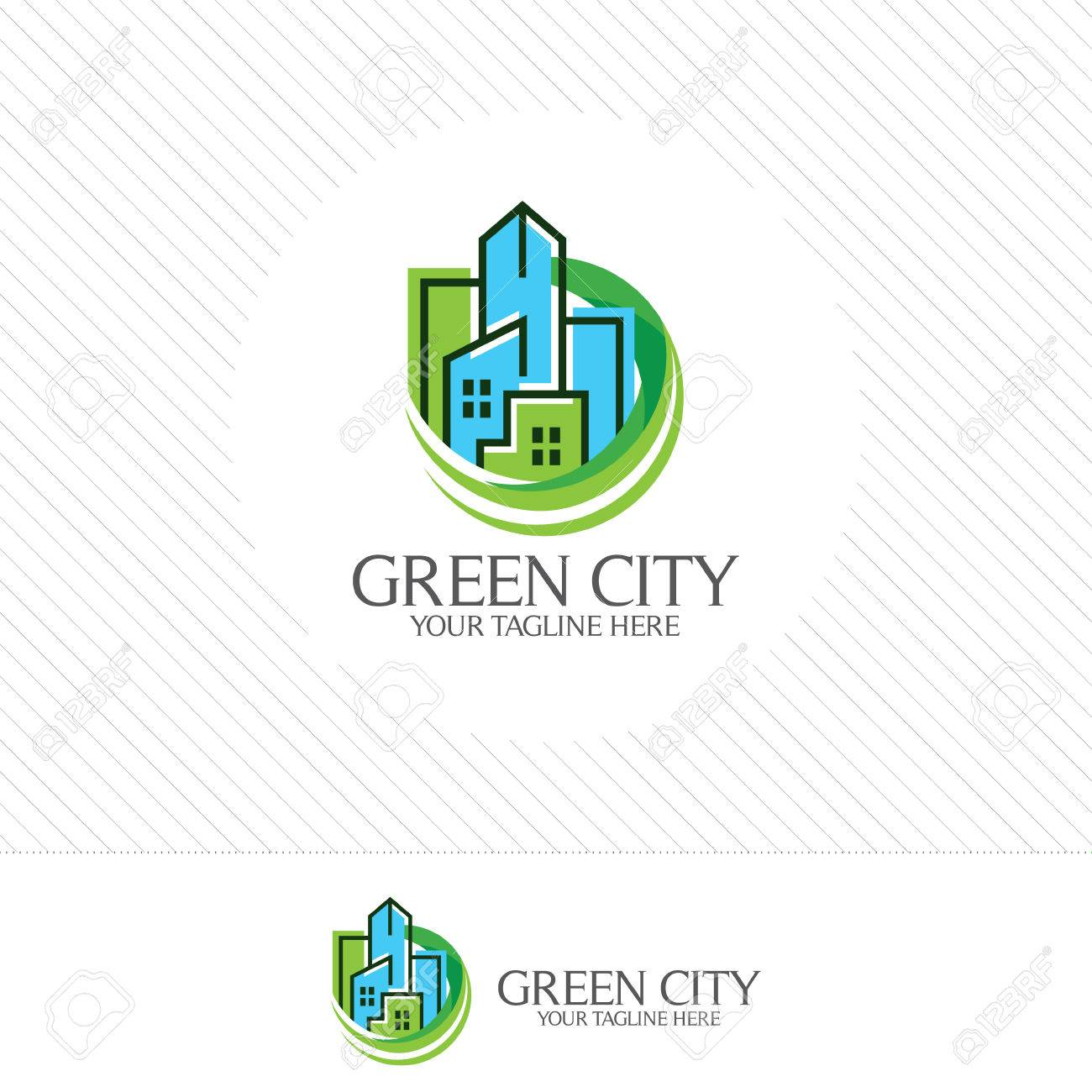 Green City Logo Design Vector Symbol Icon Of Residential Apartment Royalty Free Cliparts Vectors And Stock Illustration Image 69146130