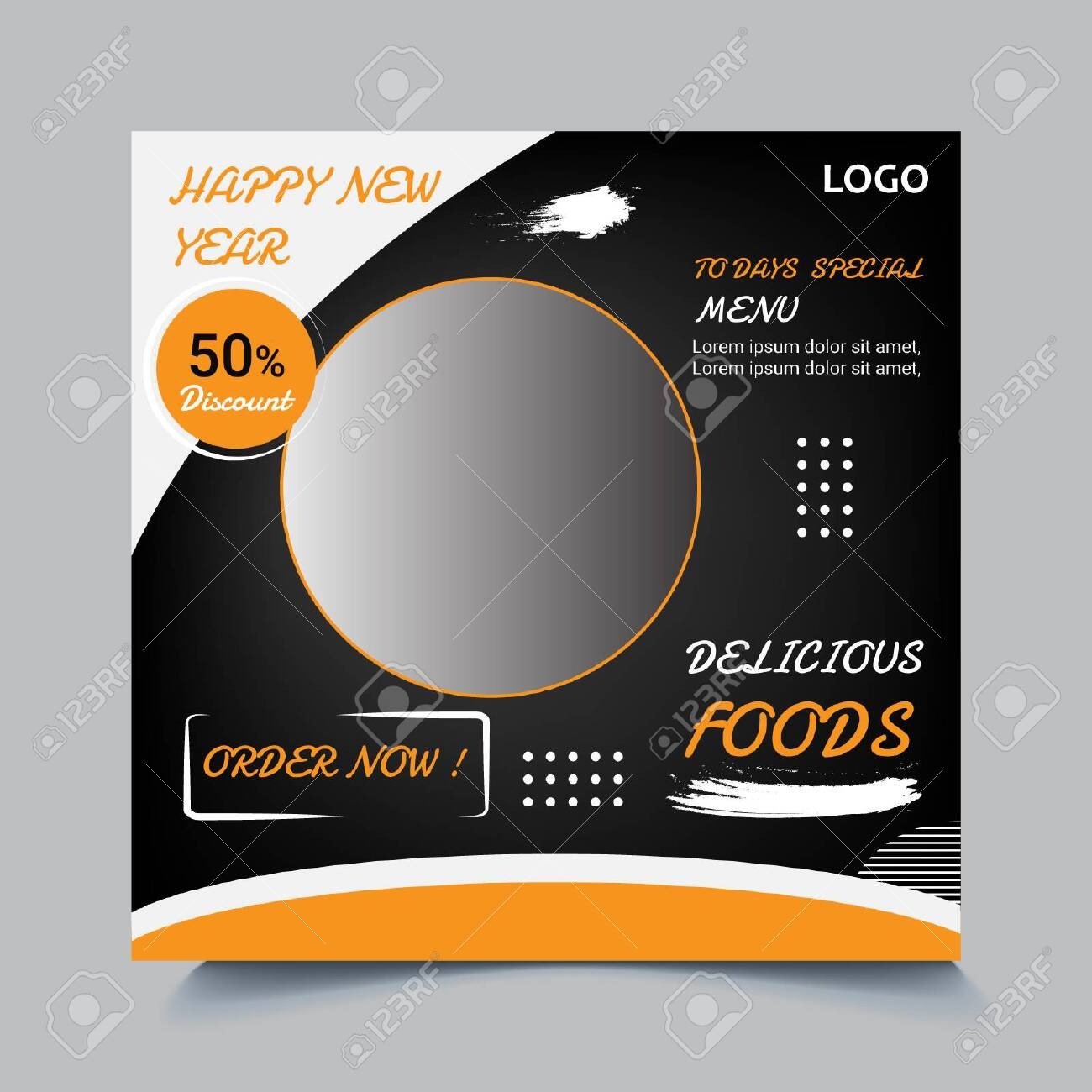 Social Media Post Template Design For Food And Restaurant Royalty Free Cliparts Vectors And Stock Illustration Image 137667817