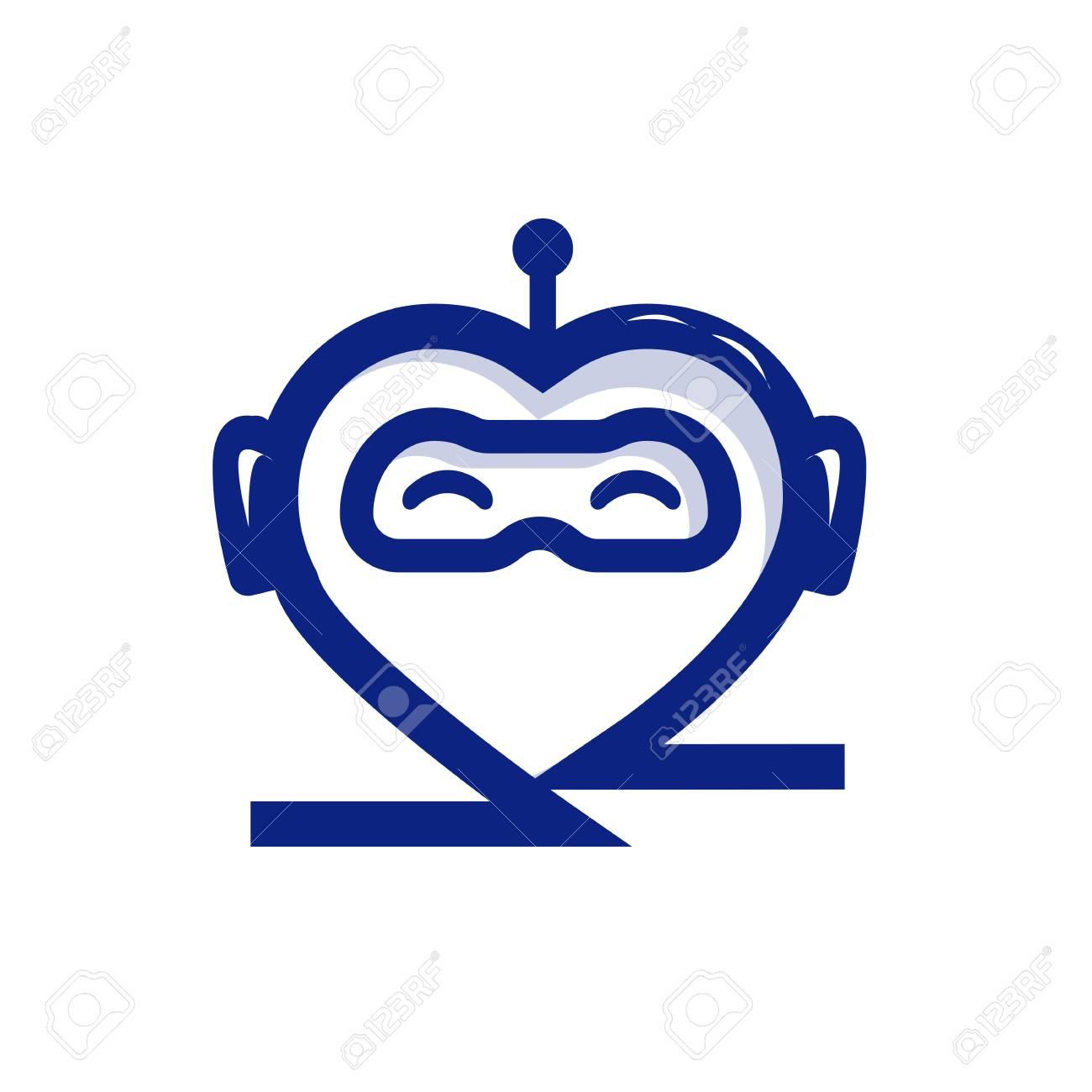 心心のおしゃべりボットロボット中心イラストロボット イラスト