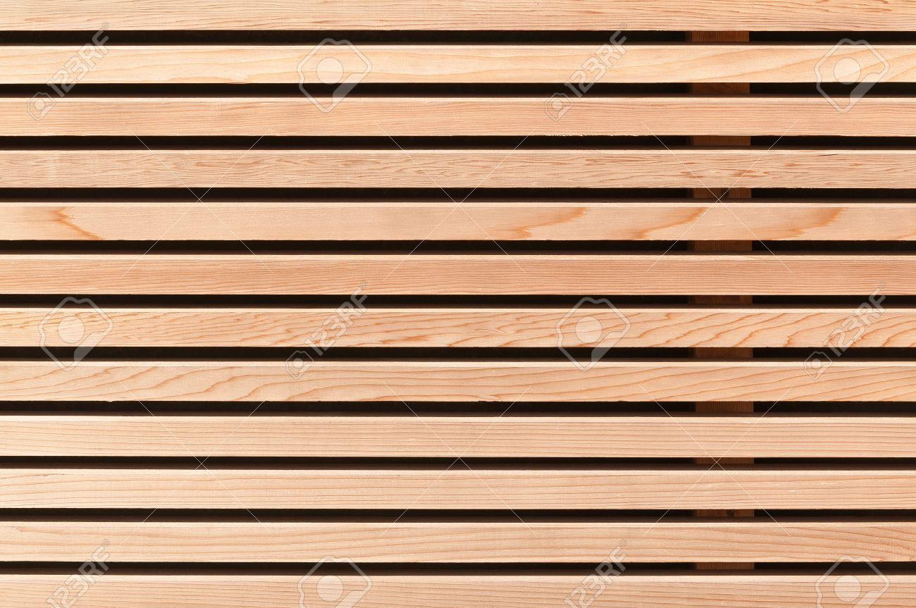 Modern Wood Wall modern wooden wall paneling; wood cladding for background stock