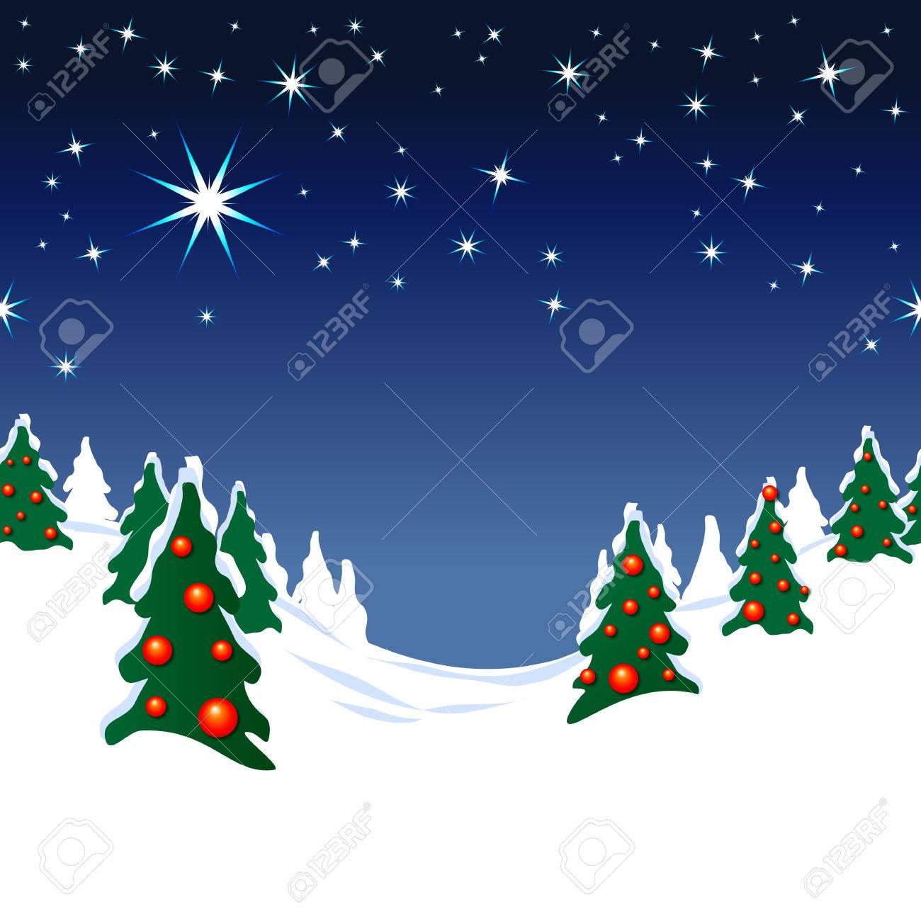 クリスマス 風景 イラスト 背景 星空 フリー Wwwthetupiancom