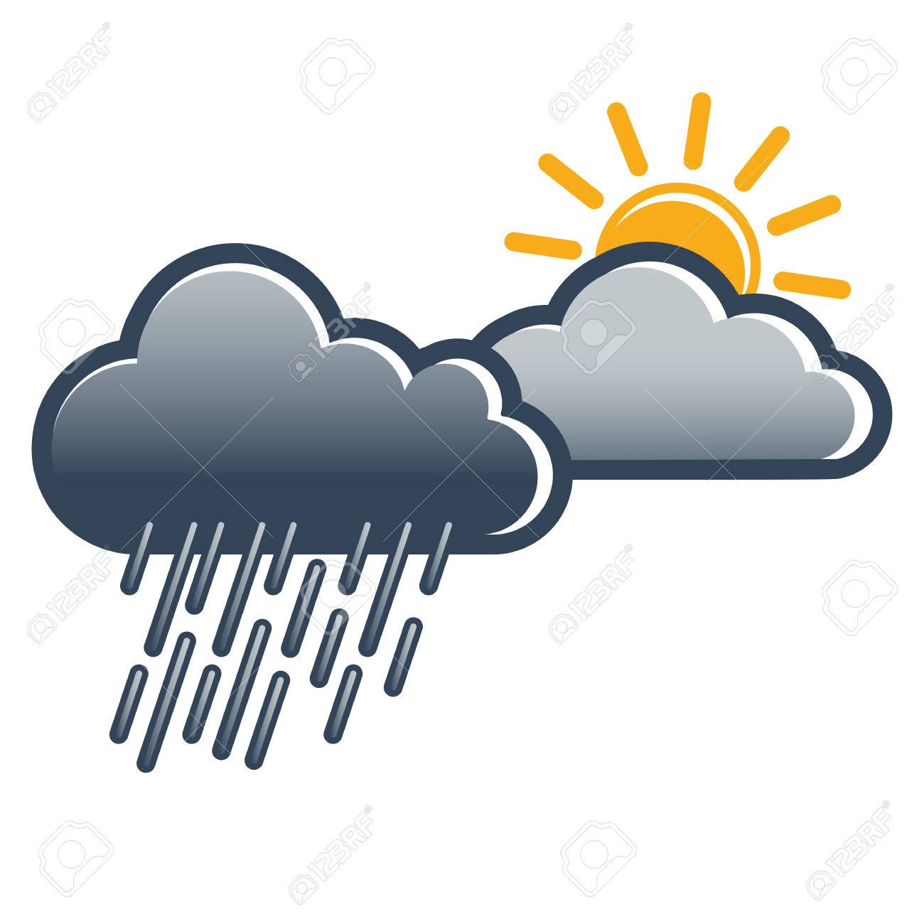 Weather Symbol For Coming Sun After Rainfall Weather Change