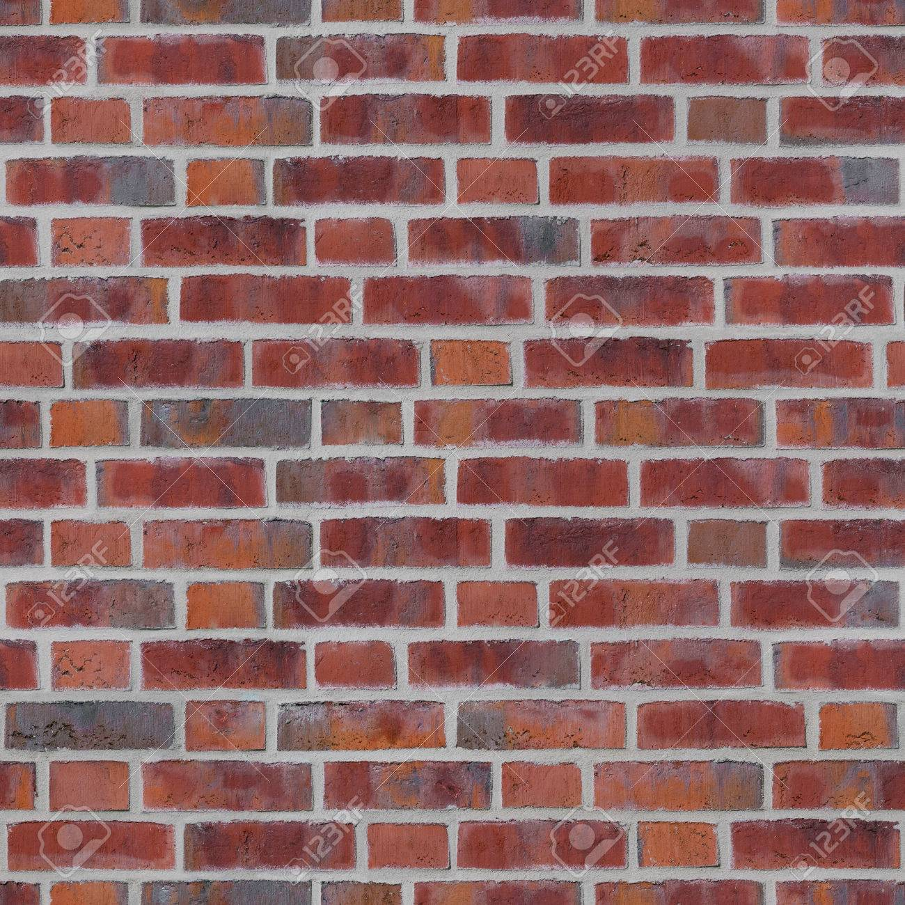 Seamless Red Brick Wall With Brighter Joints For Background Endless Tile Of Stone
