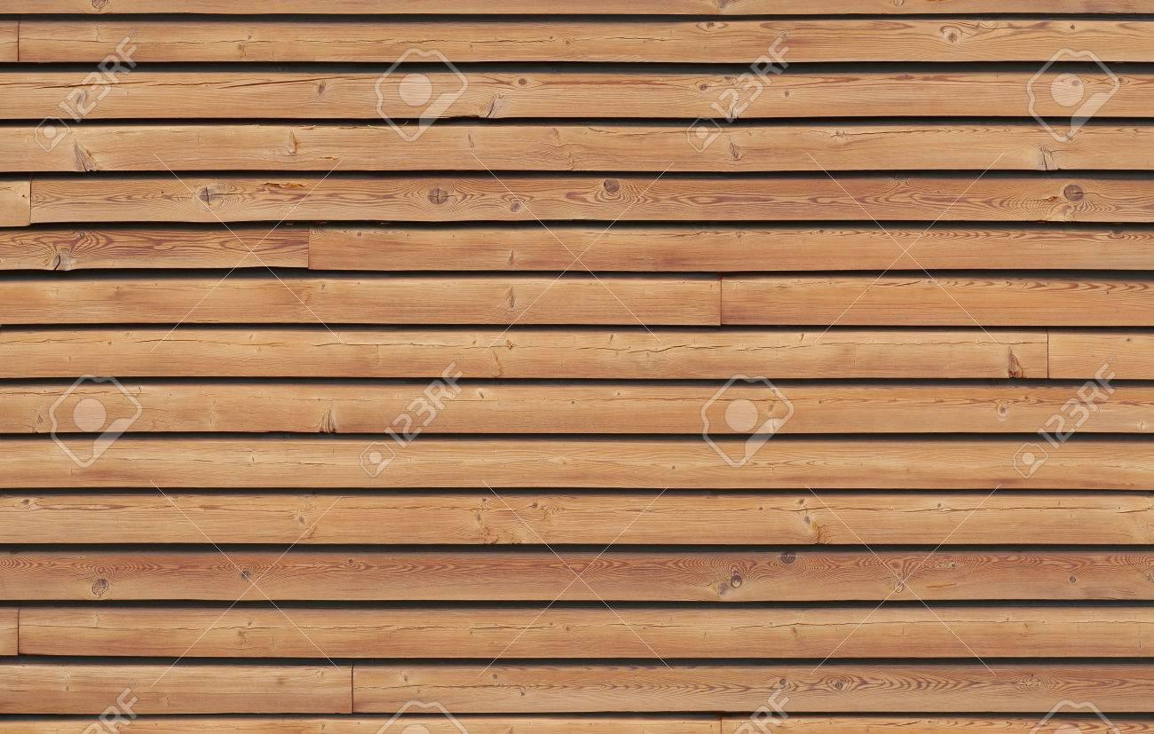 Wandverkleidung Mit Braunen Holzlatten Naturliche Materialien Fur
