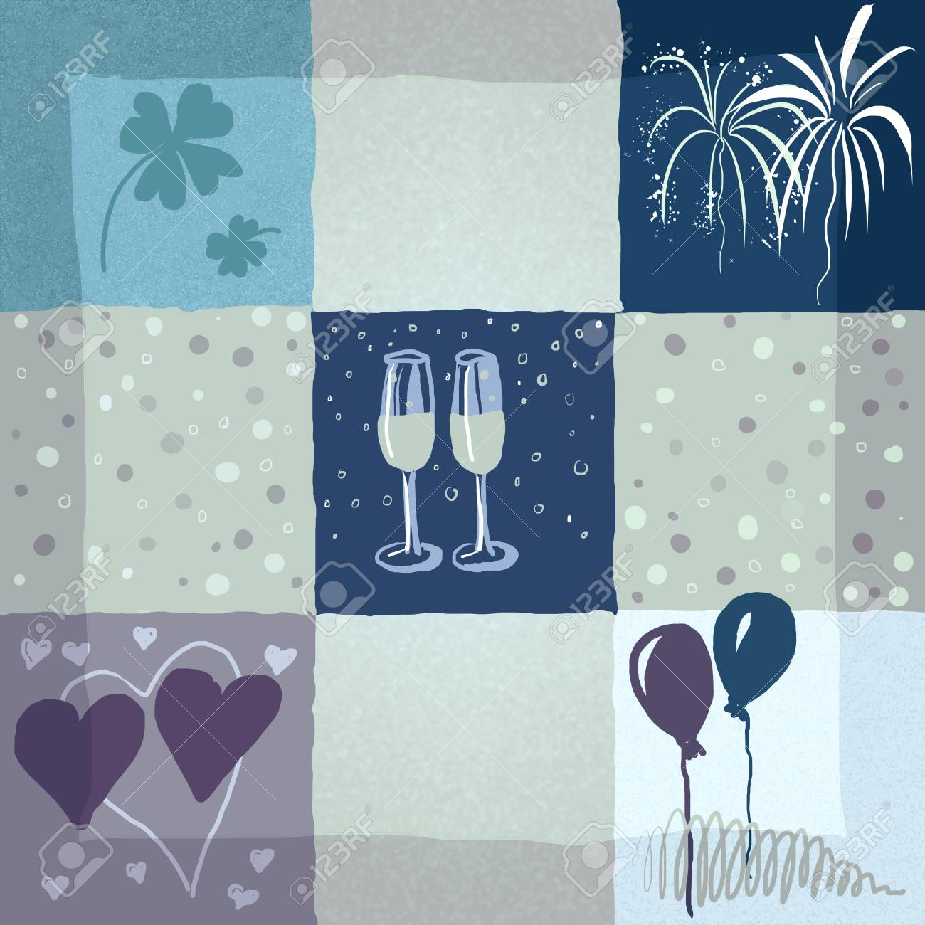 Illustration Of Symbols For Special Events Like Birthday Marriage