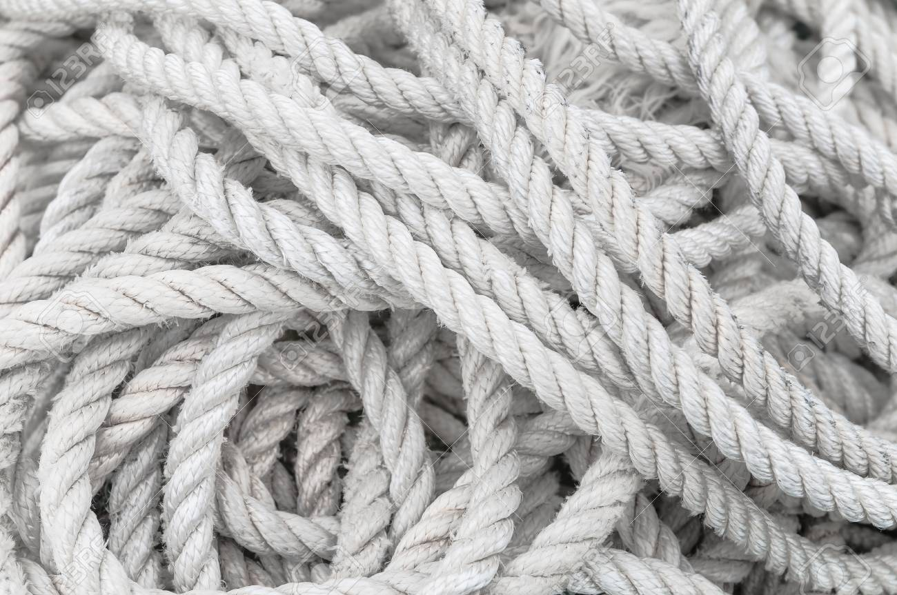 Long Disordered Twisted White Rope Symbol For Challenge Trial