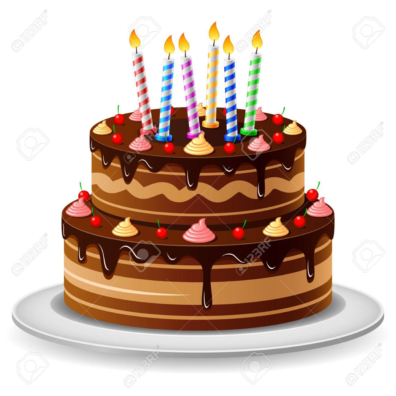 Fantastic Birthday Cake Royalty Free Cliparts Vectors And Stock Funny Birthday Cards Online Elaedamsfinfo