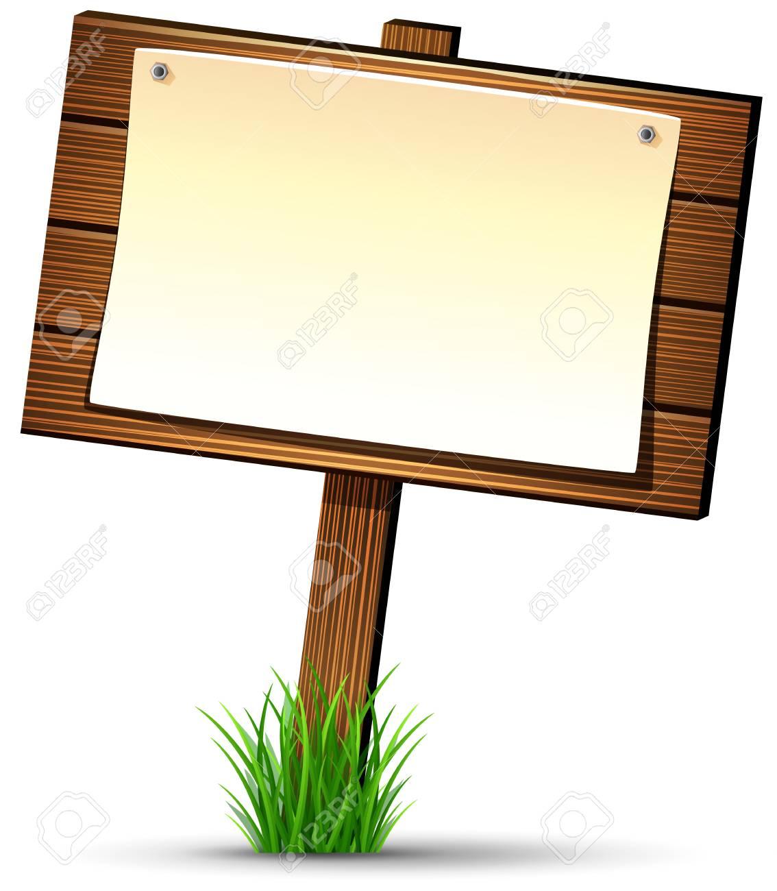 巻物の木製看板のイラスト素材ベクタ Image 63041594