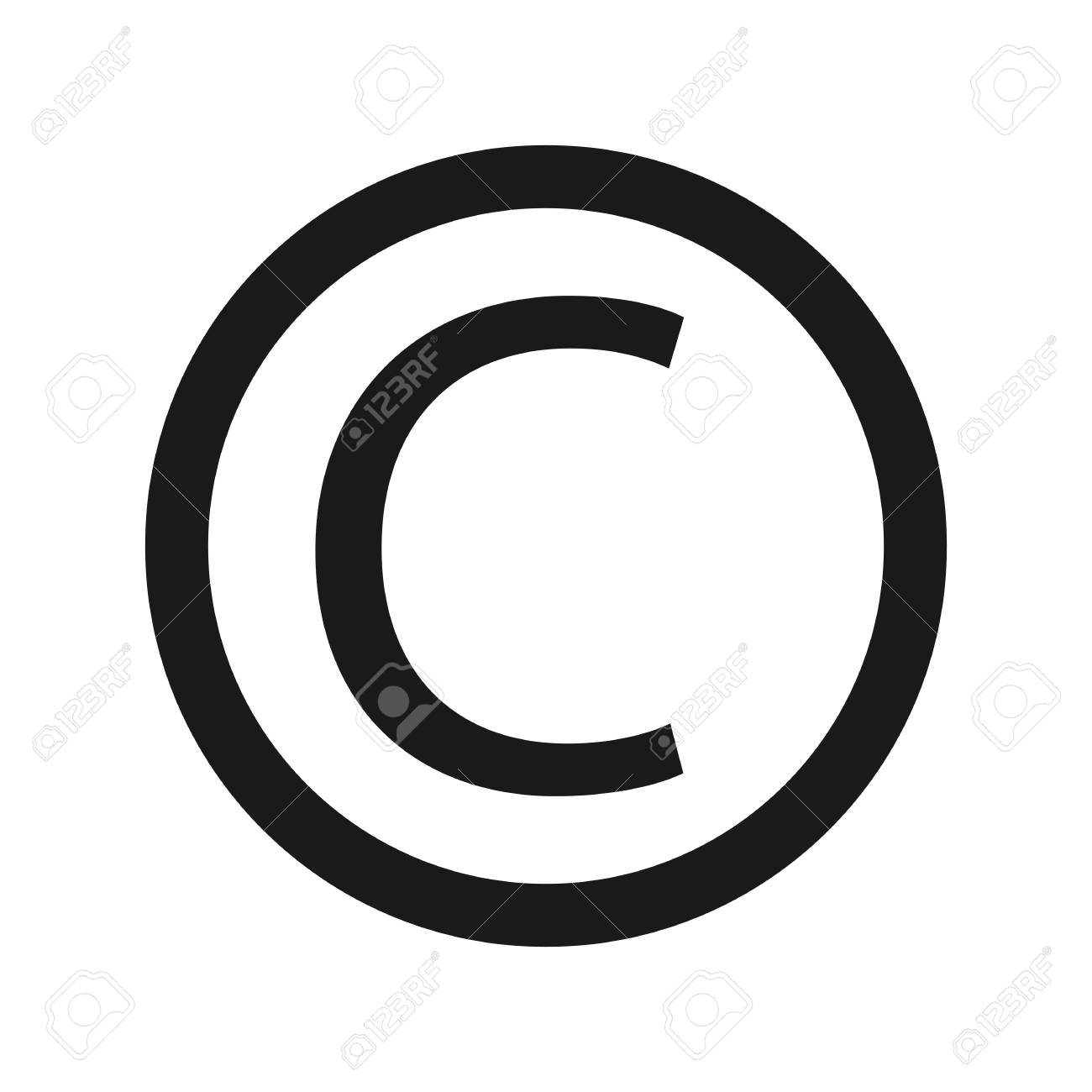 Copyright Symbol Icon Letter C Royalty Free Cliparts Vectors And