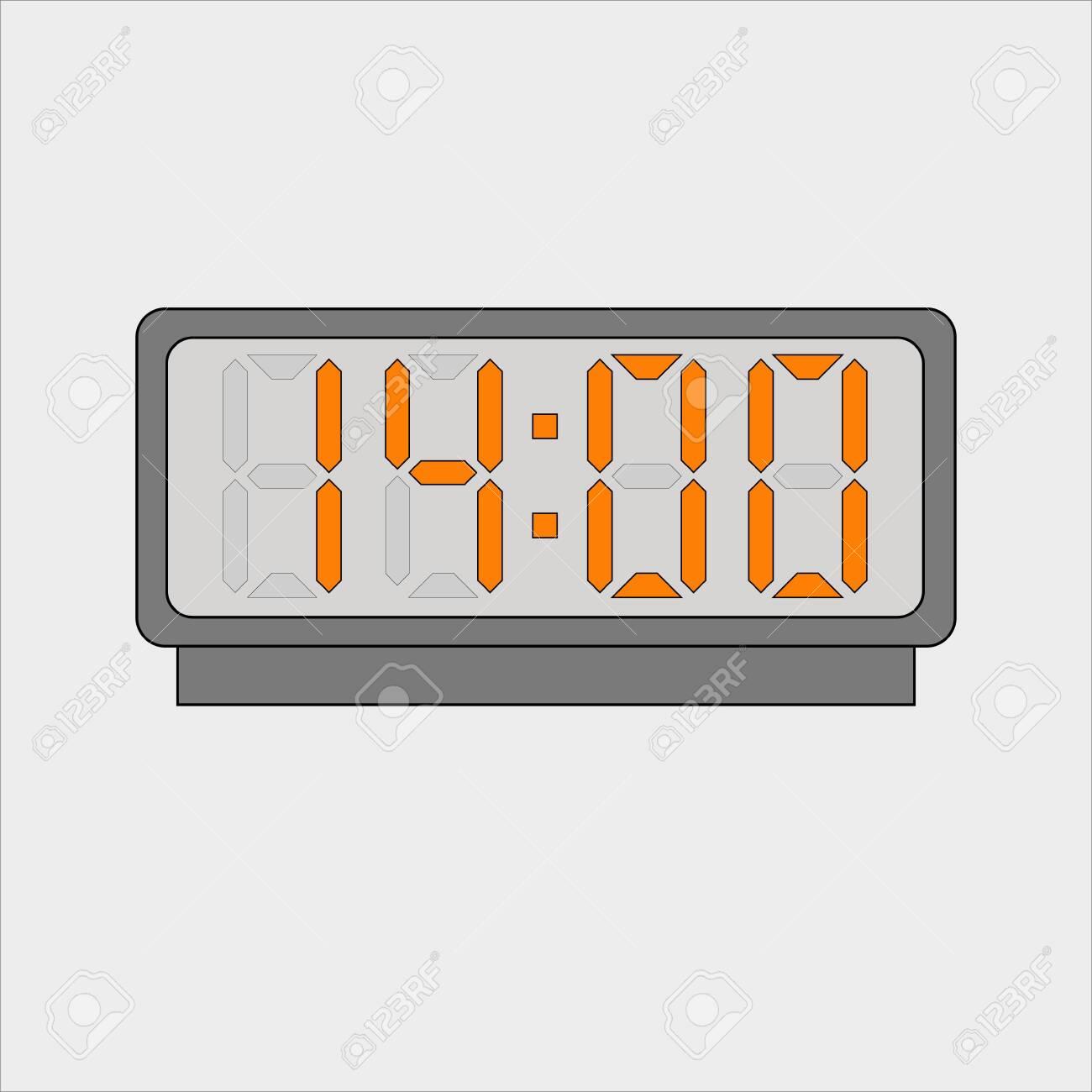 Electronic or digital alarm. Fourteen hours o'clock - 143851665