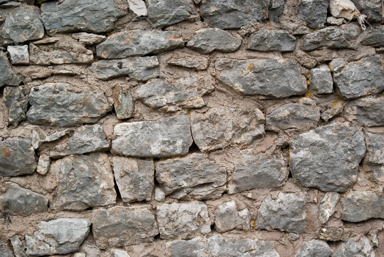 Old Stone Wall At The Foot Of A Medieval Castle Stock Photo 13101766
