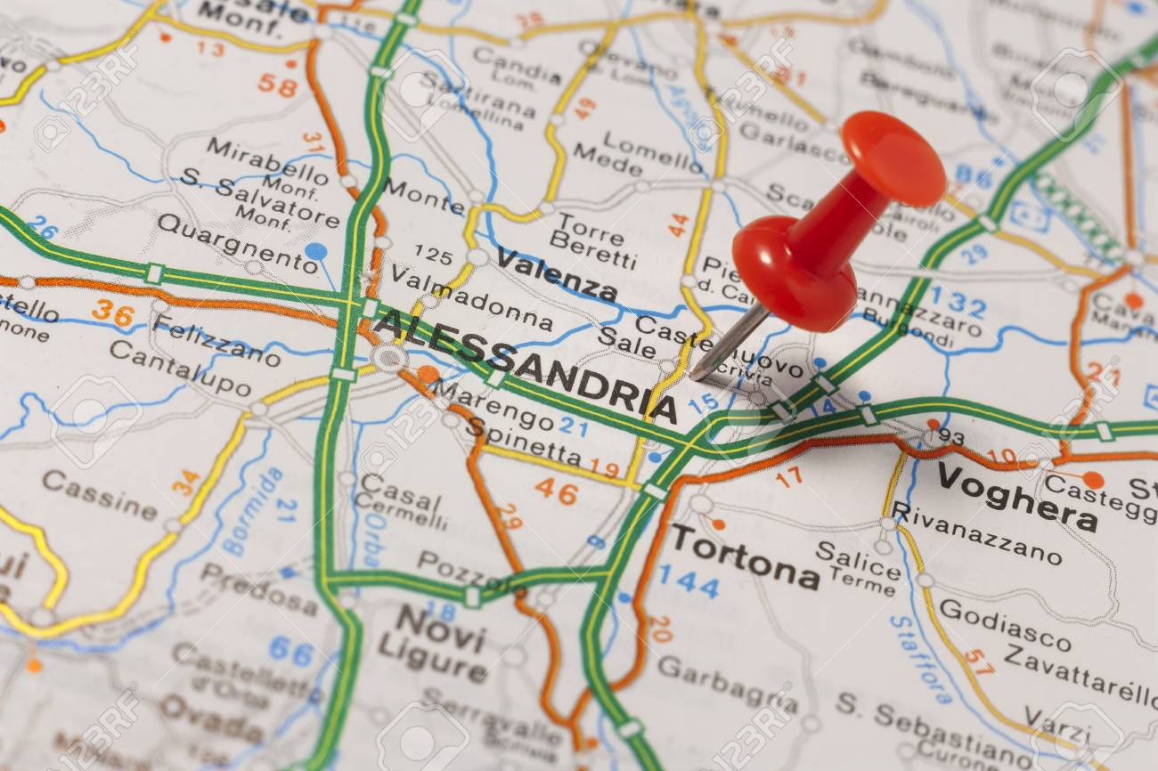 Alessandria Italy Map.Road Map Of The City Of Alessandria Italy Stock Photo Picture And