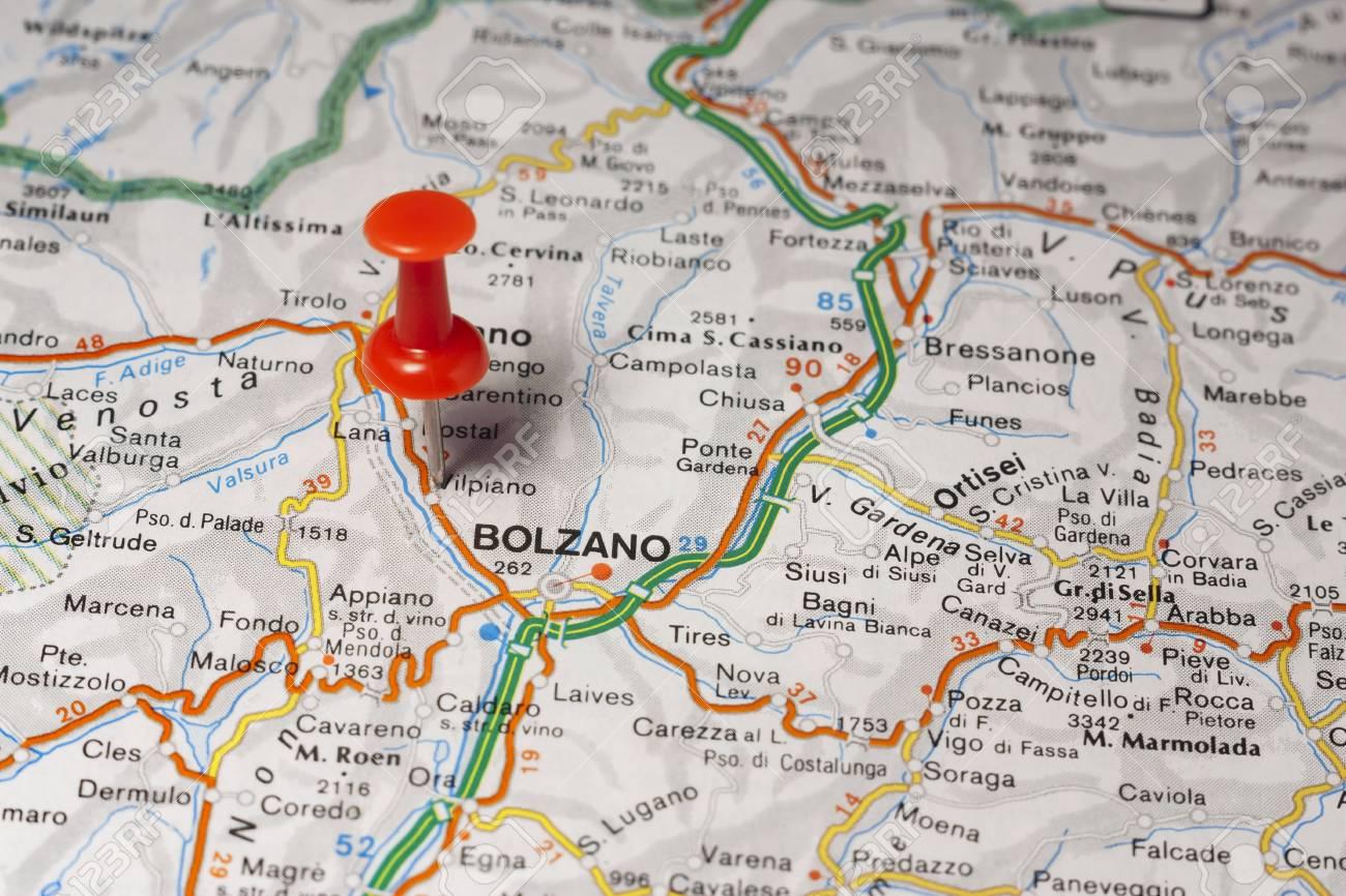 Cartina Stradale Di Italia.Immagini Stock Mappa Stradale Della Citta Di Bolzano Italia Image 85802544