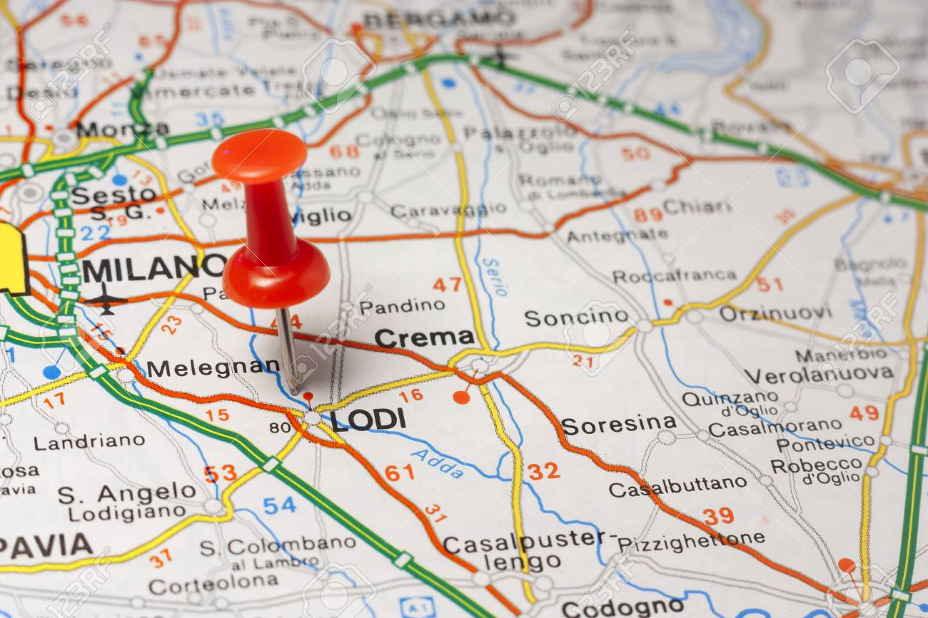 Cartina Italiana Stradale.Immagini Stock Mappa Stradale Della Citta Di Lodi Italia Image 85680980