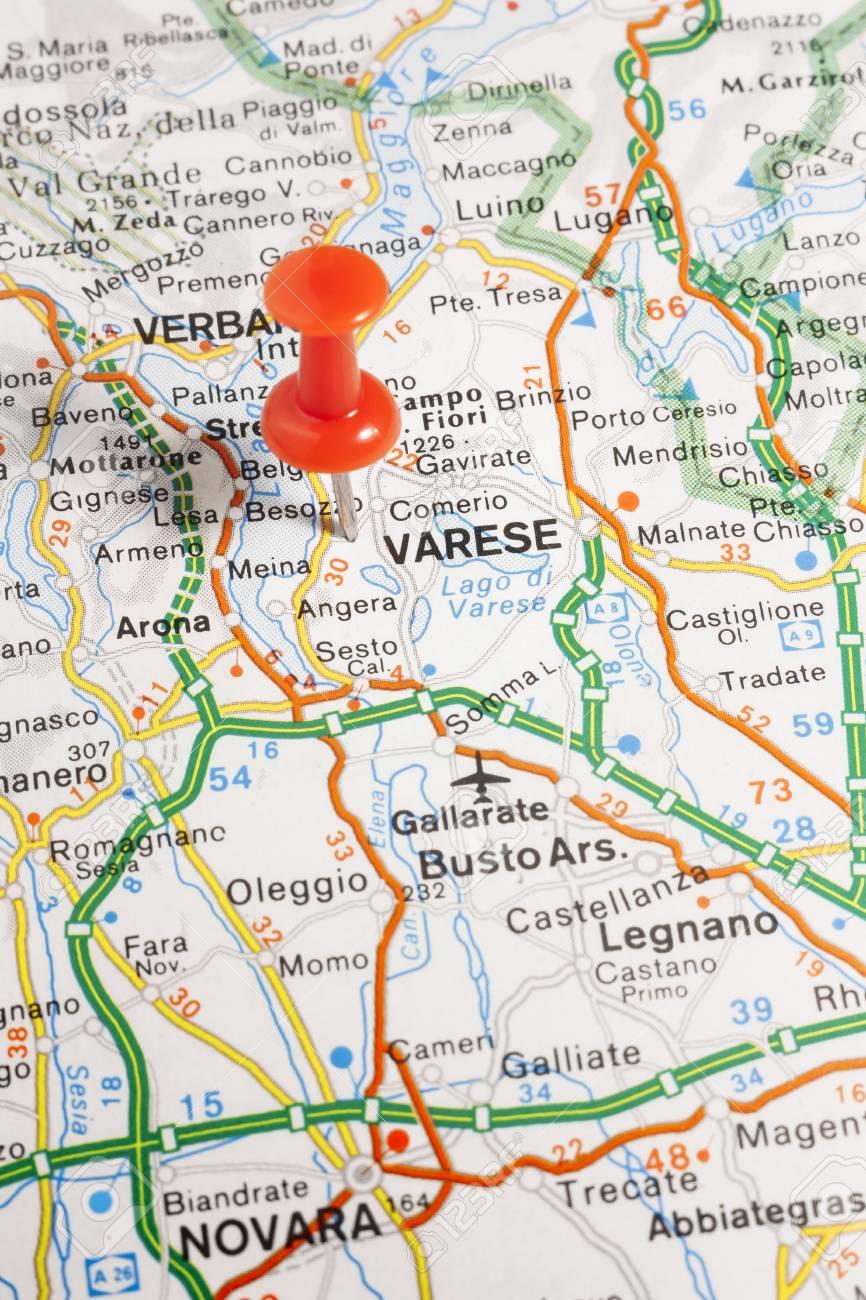 Varese Cartina.Immagini Stock Mappa Stradale Della Citta Di Varese Italia Image 85635882
