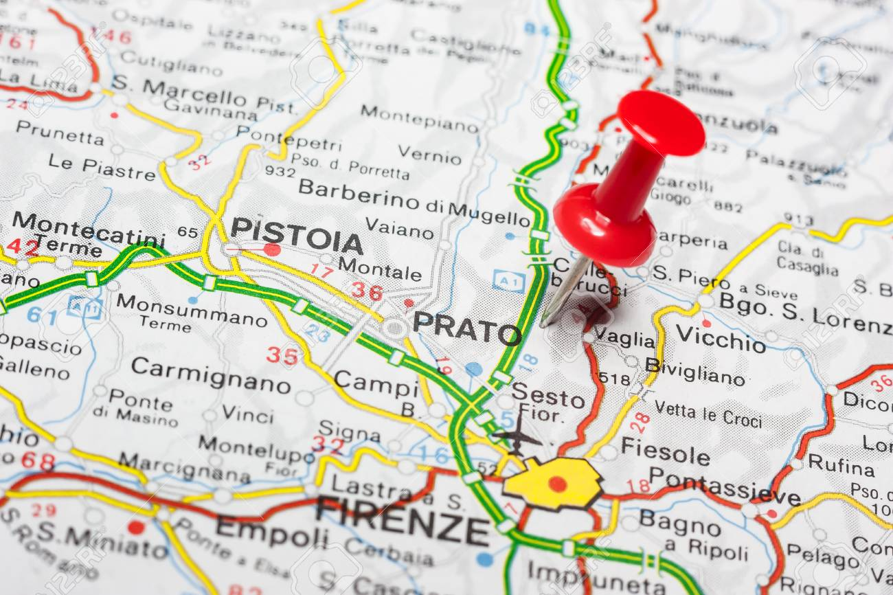 Sora Italy Map.Road Map Of The City Of Prato Italy Stock Photo Picture And Royalty