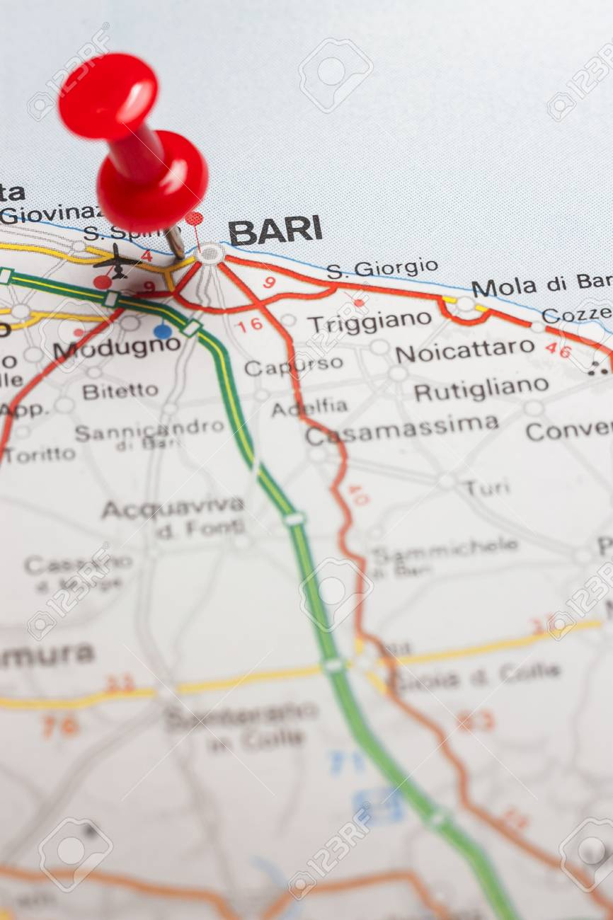 Road Map Of The City Of Bari Italy Stock Photo Picture And Royalty