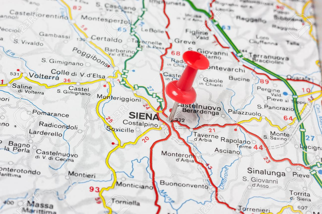 Road Map Of The City Of Siena Italy Stock Photo Picture And Royalty