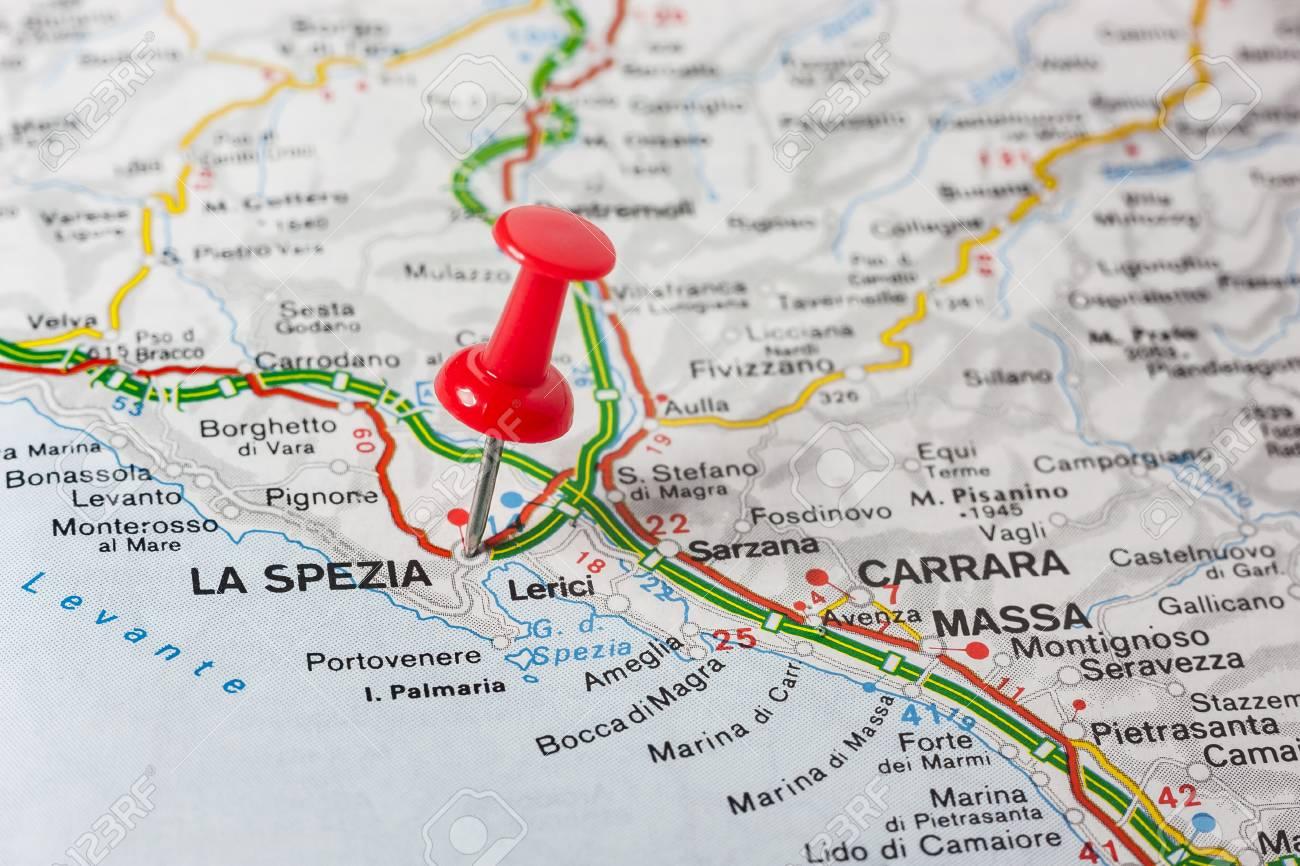 Road Map Of The City Of La Spezia Italy