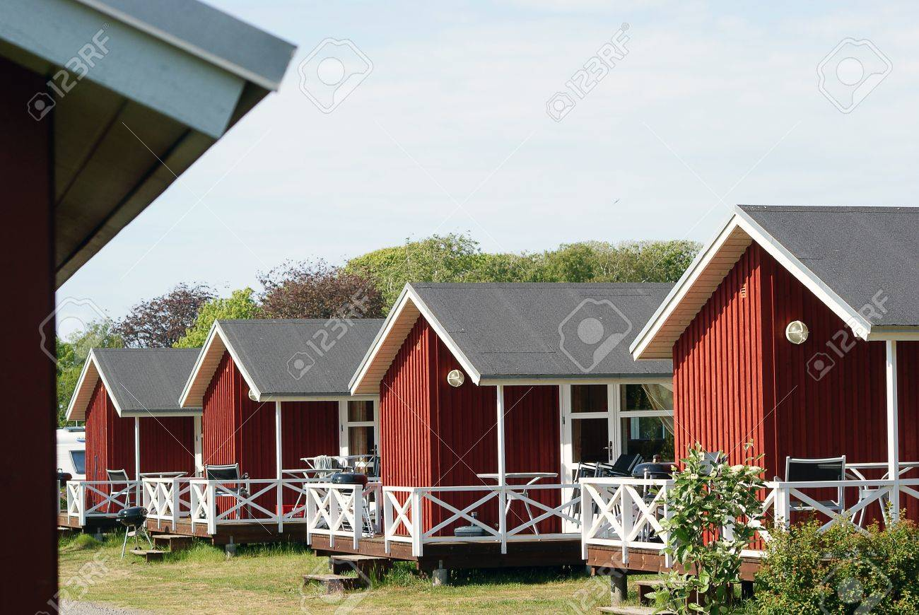 scandinavian cottage houses for turism stock photo picture and scandinavian cottage houses for turism stock photo 13861456