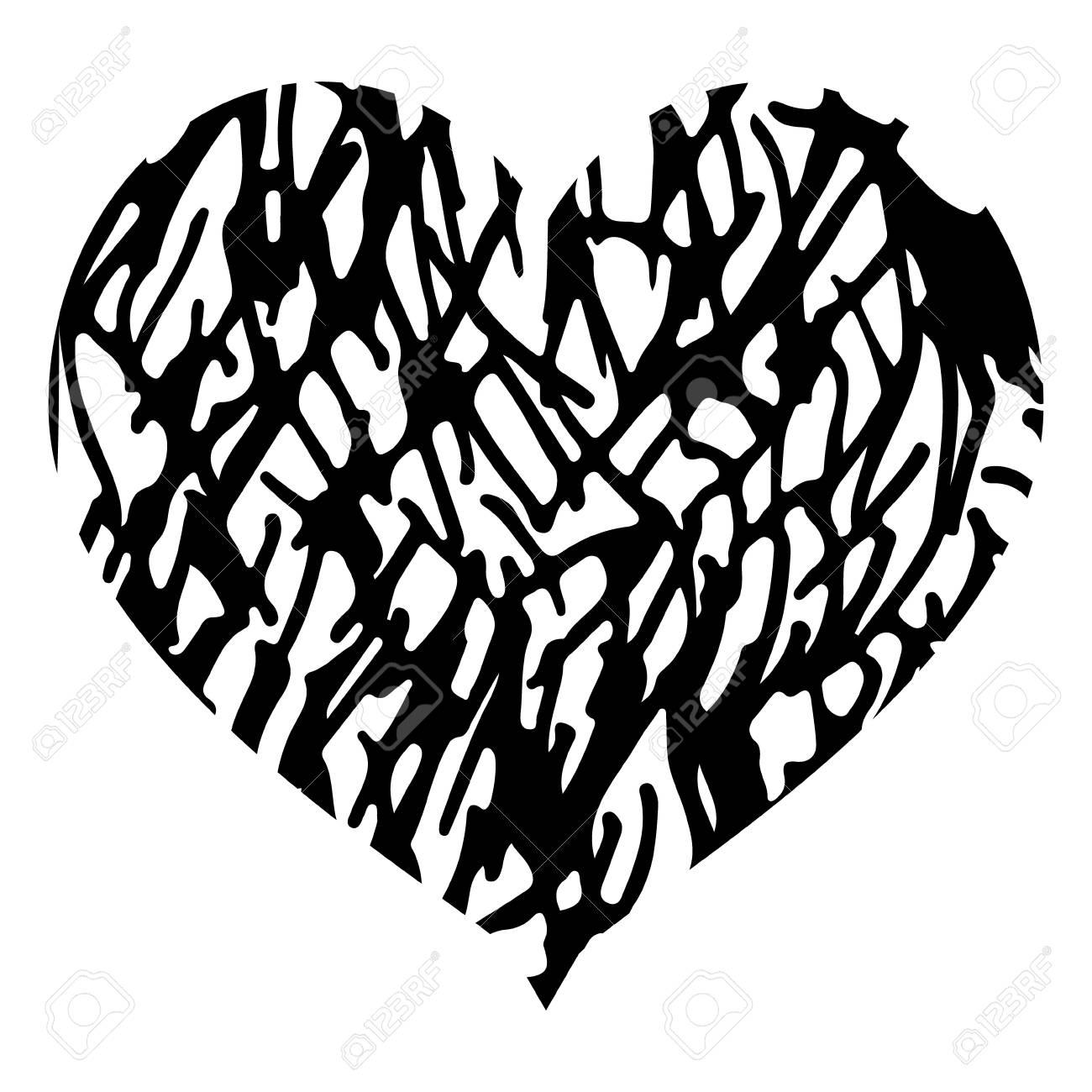 Diseño De La Forma Del Corazón Para Los Símbolos Del Amor Corazón
