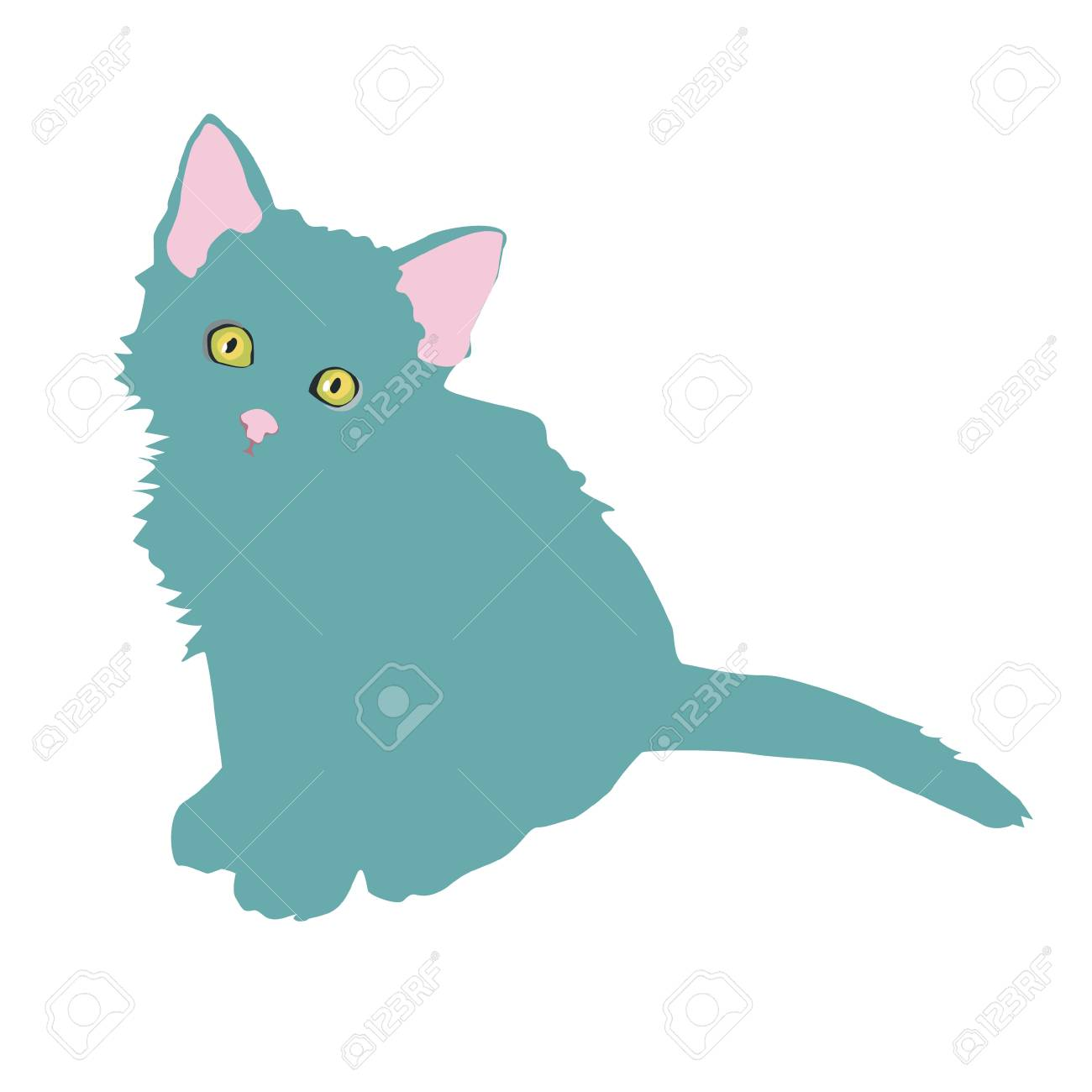 Padrao Com Gatos Bonitos Do Doodle Dos Desenhos Animados No Fundo