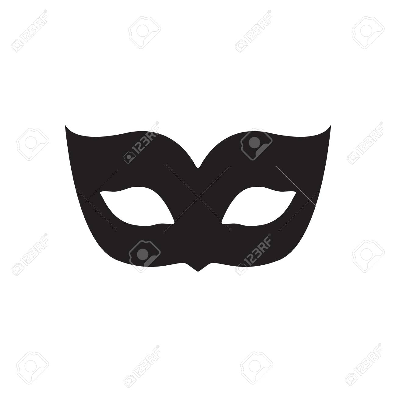 blank carnival mask icon template illustration party masquerade