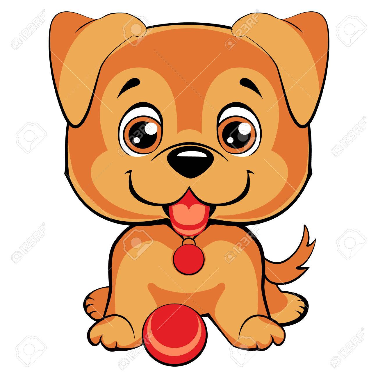 Cute Cartoon Dog Children S Illustration Funny Baby Animal Royalty Free Cliparts Vectors And Stock Illustration Image 75415098