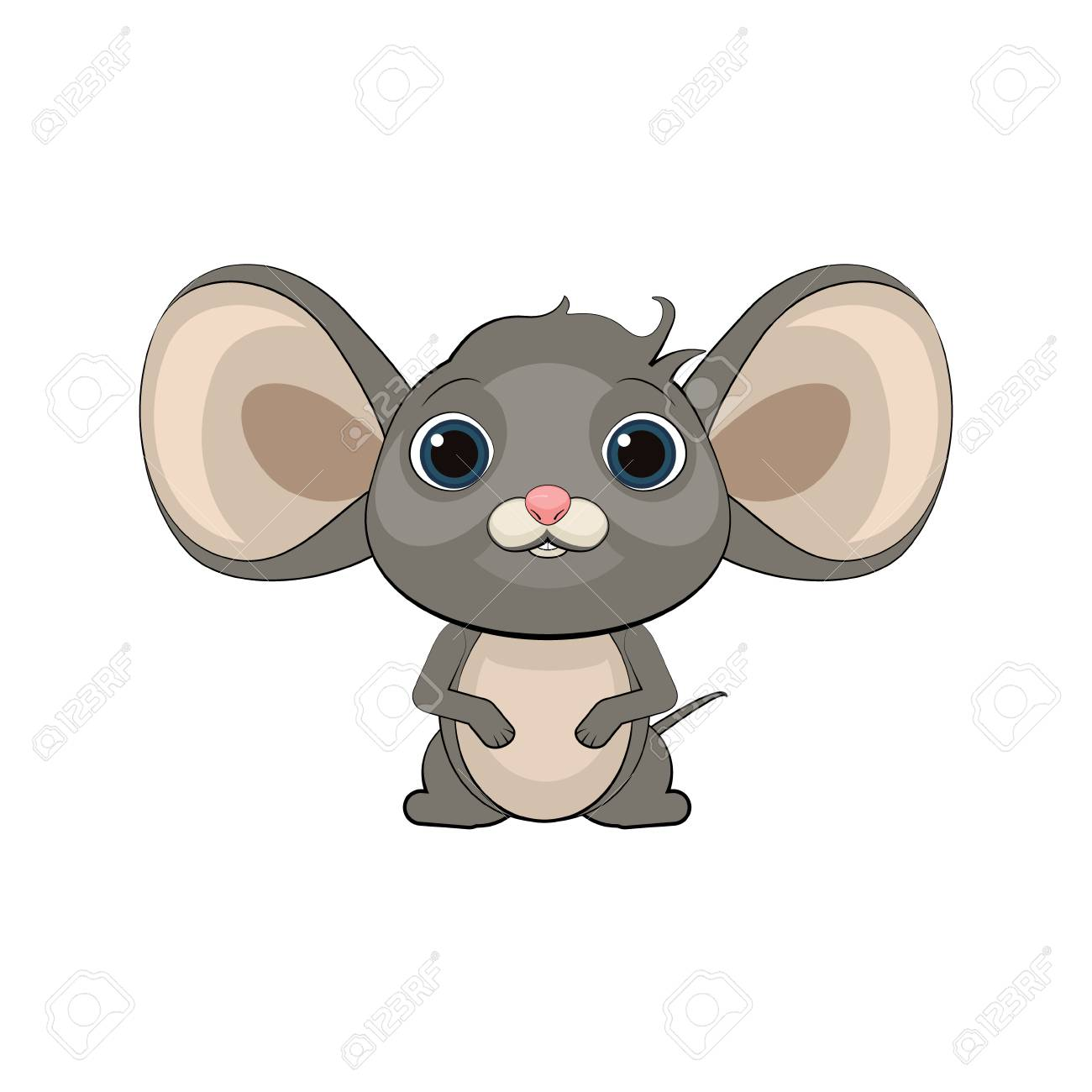 Cute Cartoon Mouse Vector Illustration Royalty Free Cliparts Vectors And Stock Illustration Image 84181044
